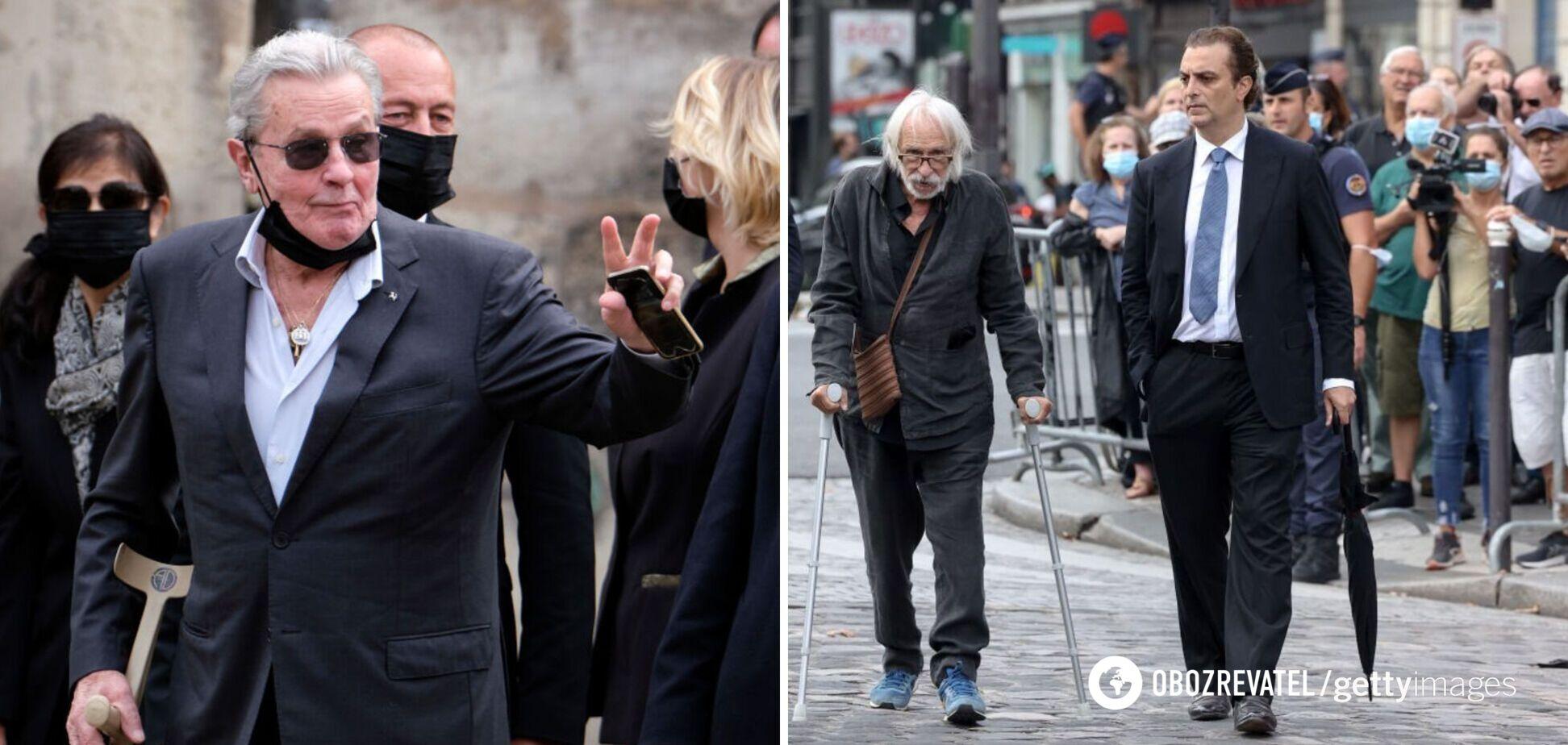 В сети показали кадры, как сейчас выглядят Ален Делон и Пьер Ришар. Видео