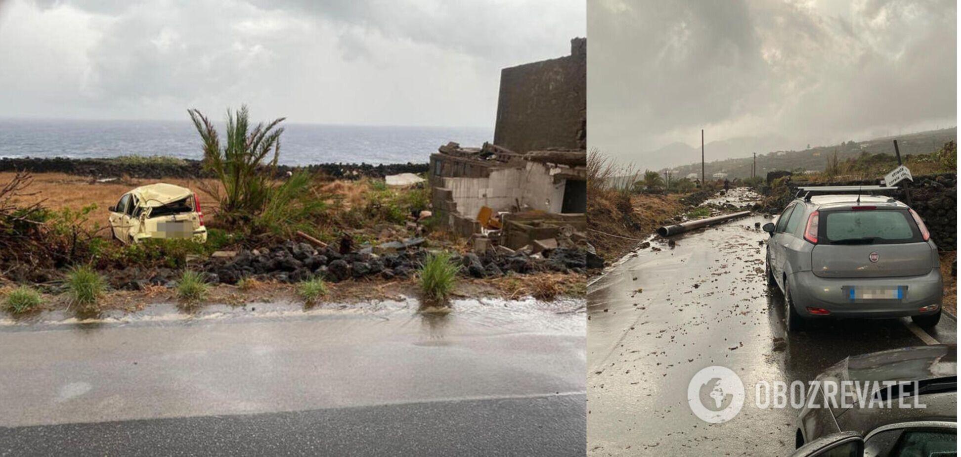 Итальянский остров накрыл торнадо: есть жертвы и раненые. Фото