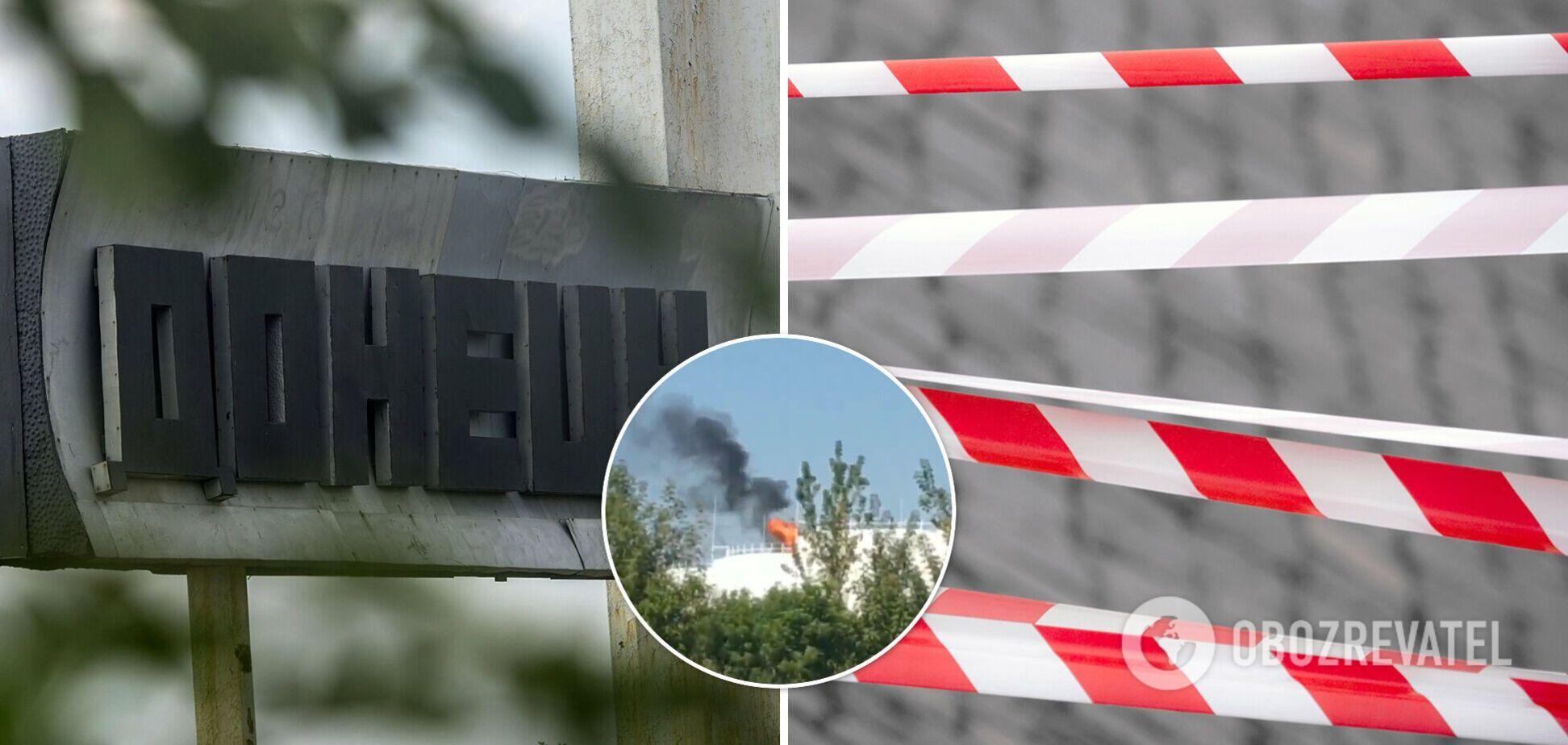 В оккупированном Донецке прогремел взрыв на нефтебазе. Видео