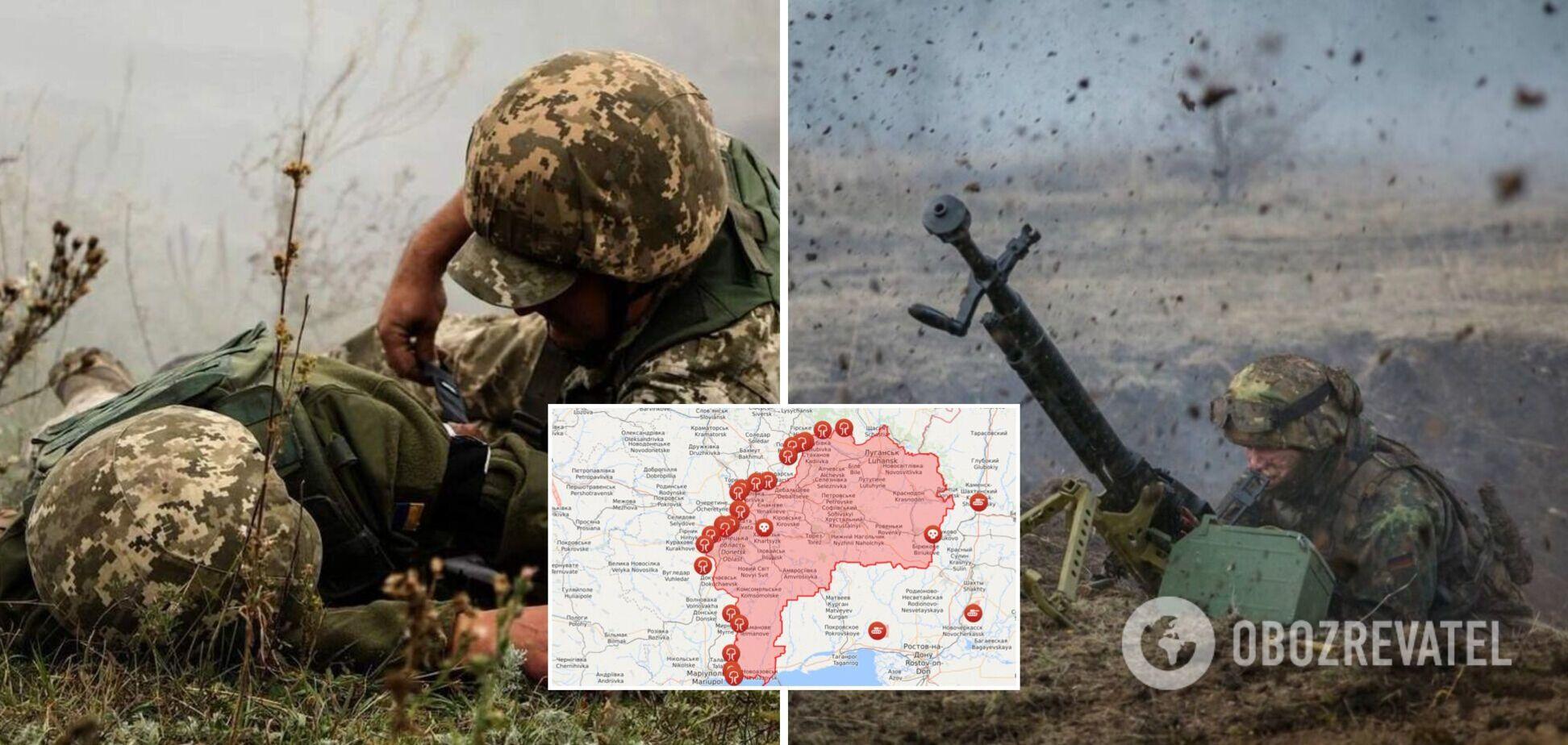 На Донбассе убили бойца ВСУ, еще 10 получили ранения и травмы: все подробности