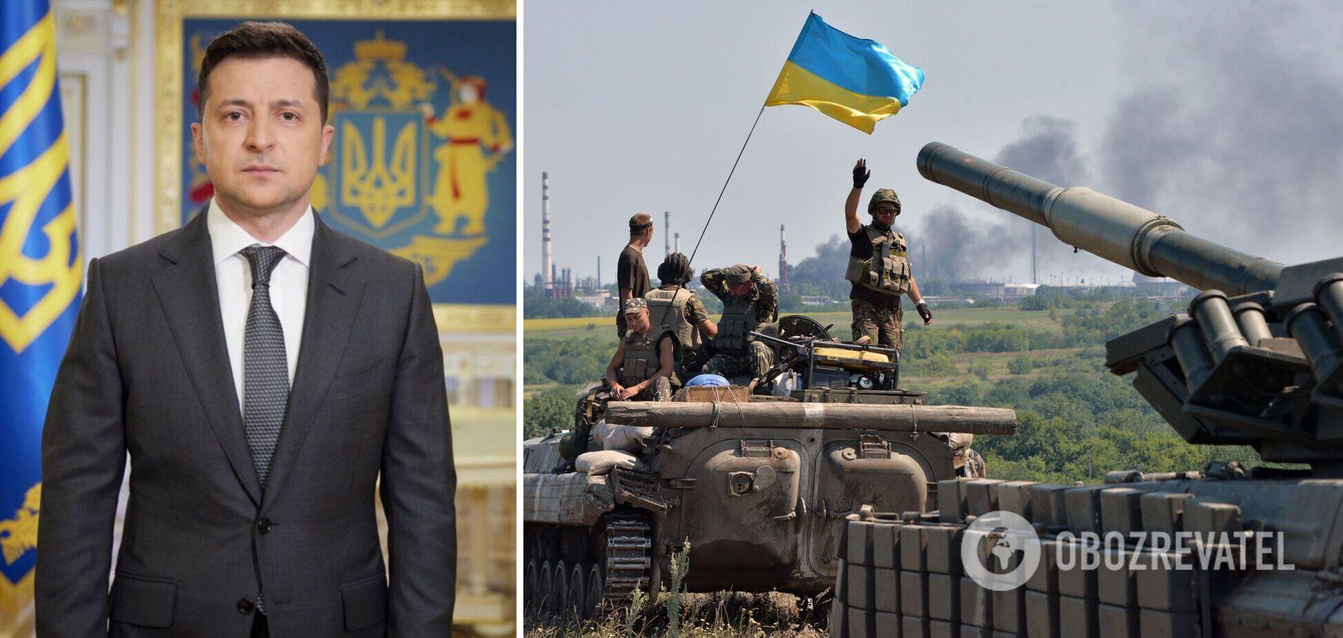 Зеленский поздравил украинских военных с Днем танкиста: готовы остановить врага
