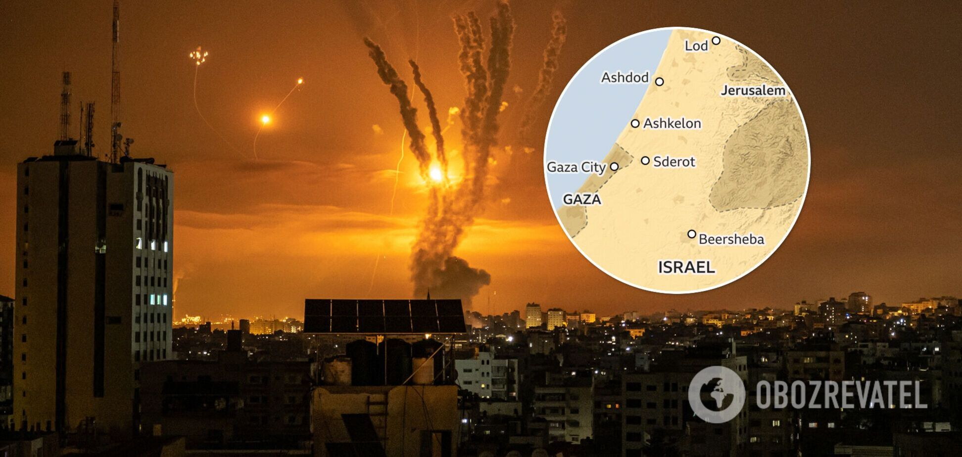 Ізраїль завдав ударів по сектору Гази у відповідь на ракетний обстріл: з'явилися подробиці