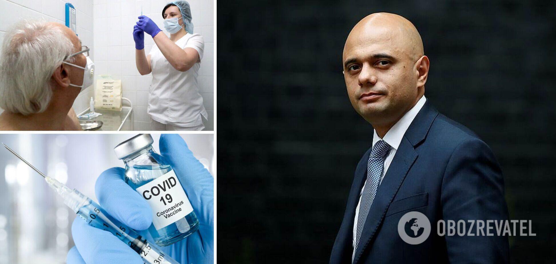 Министр здравоохранения Великобритании заявил о необходимости третьей прививки от коронавируса