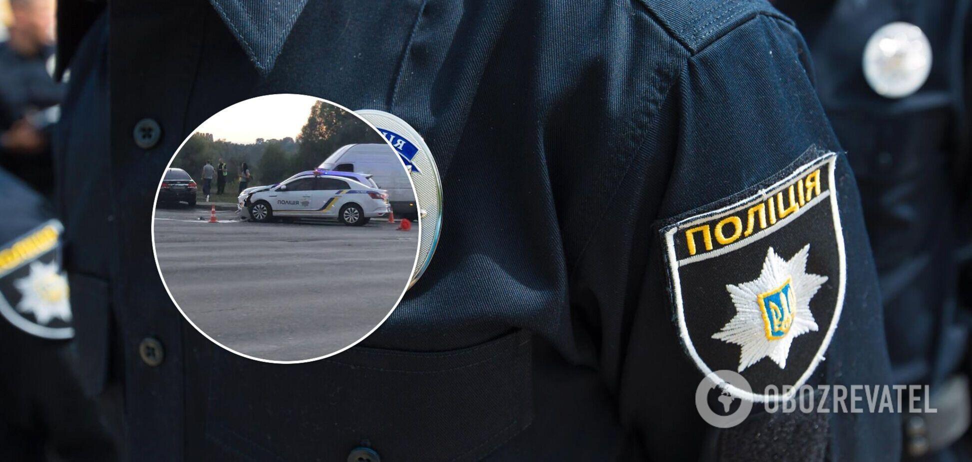 У Києві в ДТП потрапив автомобіль поліції: з'явилося відео моменту зіткнення