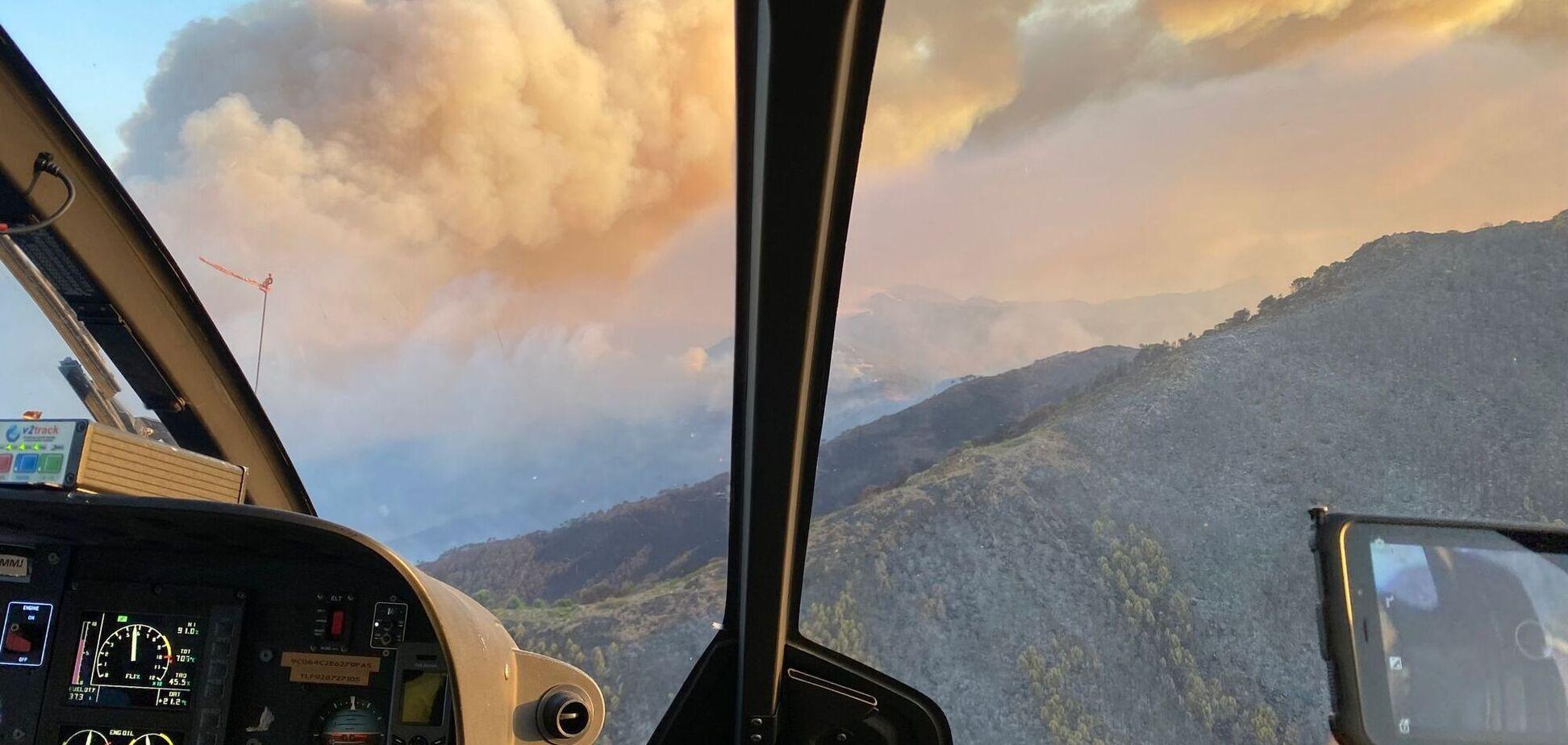 В Испании горят леса в горах