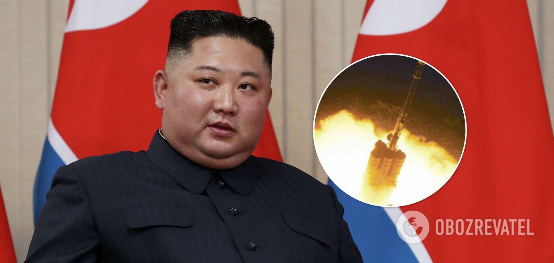 В КНДР запустили снаряд