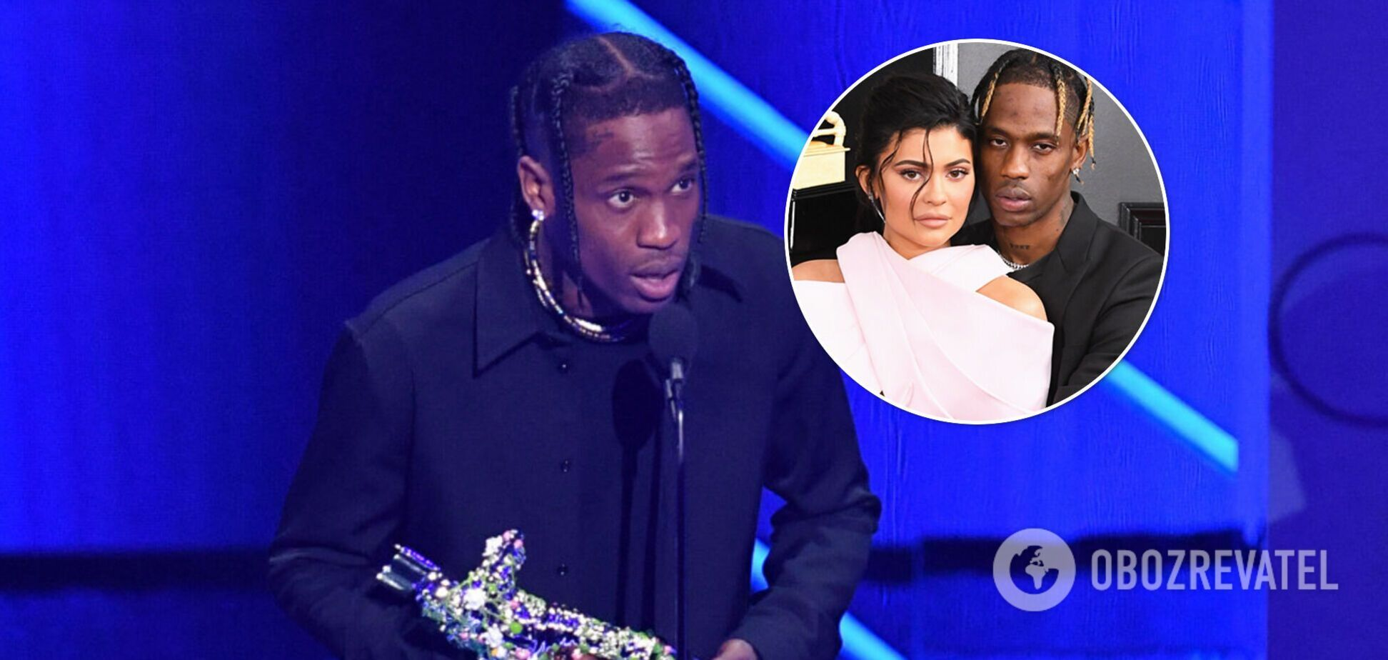 Тревіс Скотт не подякував Кайлі Дженнер на церемонії нагородження MTV