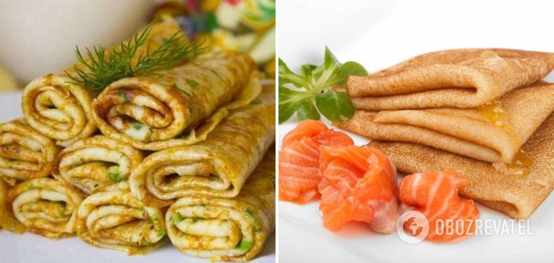 Полезные блины: перечень правильных ингредиентов для начинок