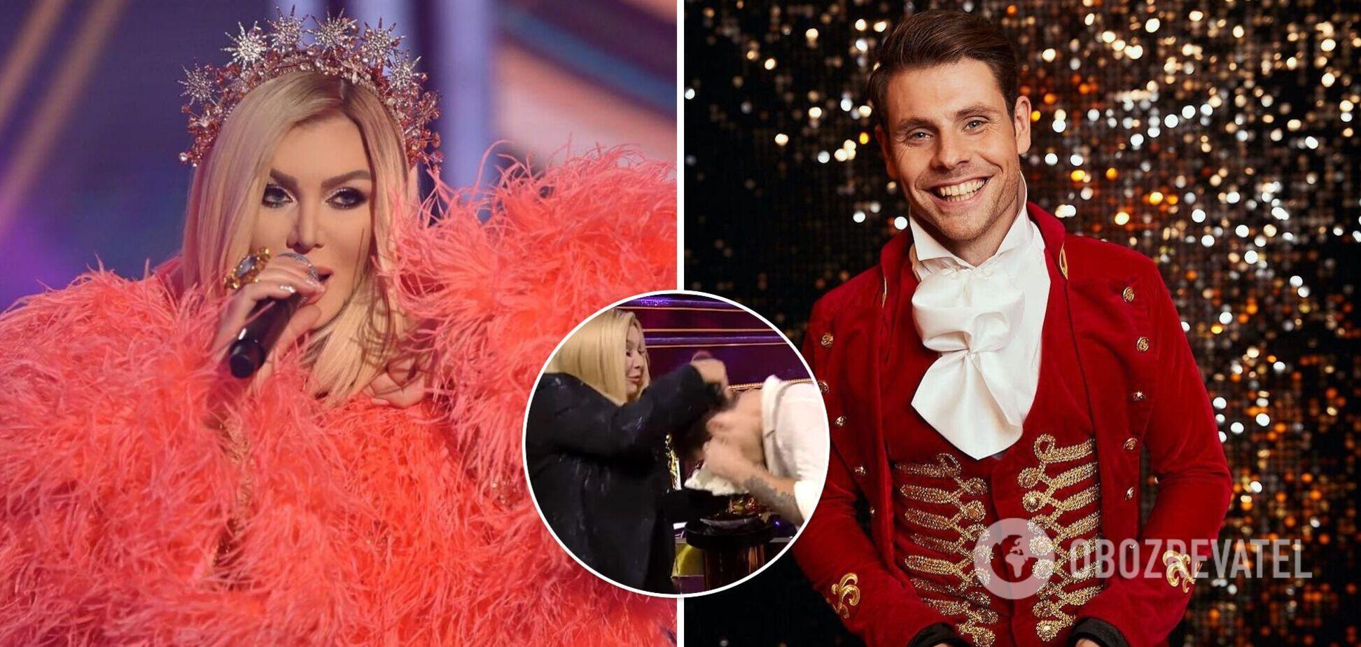 Ирина Билык после выступления Артура Логая на 'Танцях з зірками' ткнула его лицом в торт