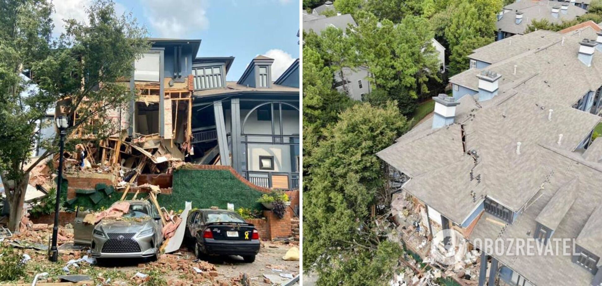 Взрыв в жилом доме в США
