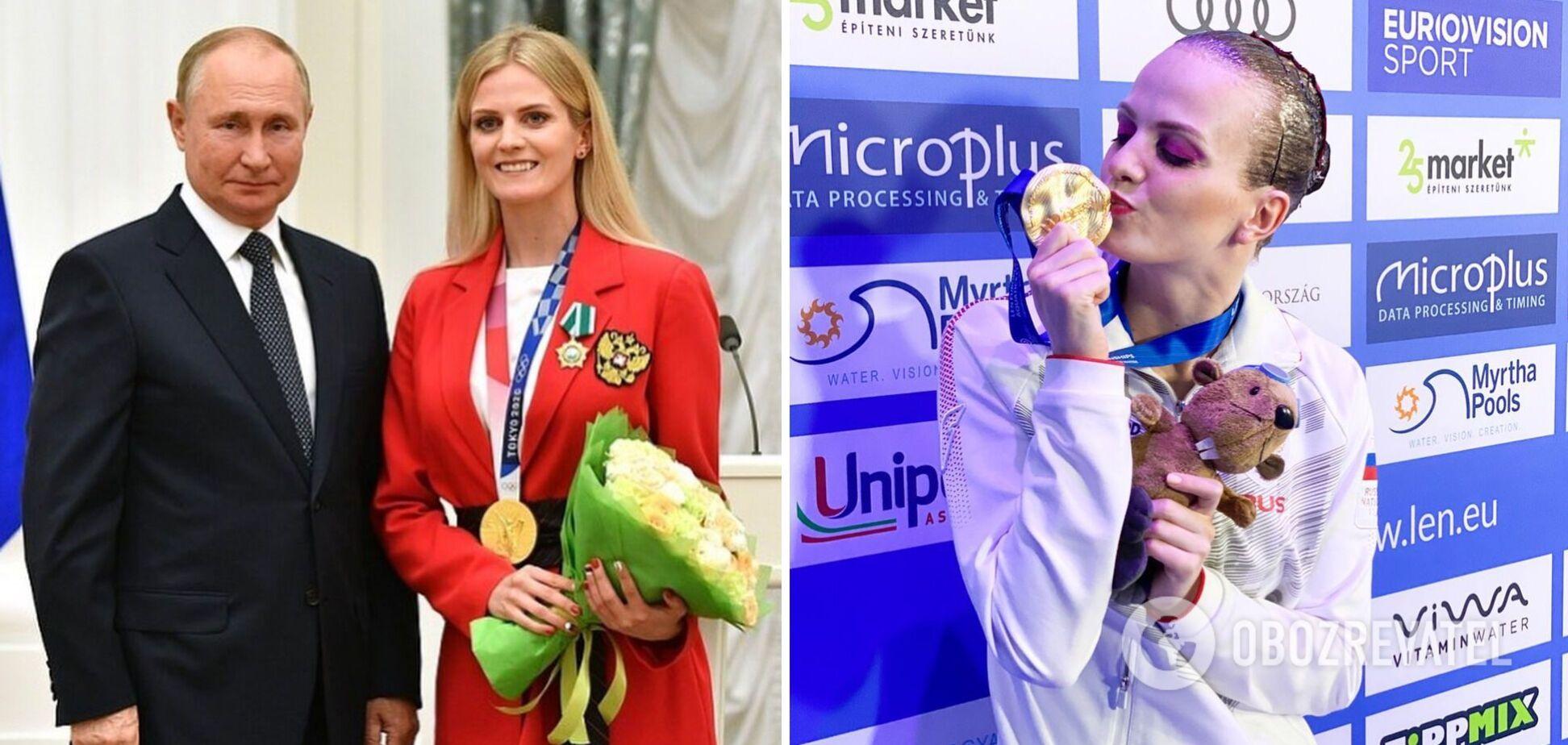 Марина Голядкина зробила фото з Путіним