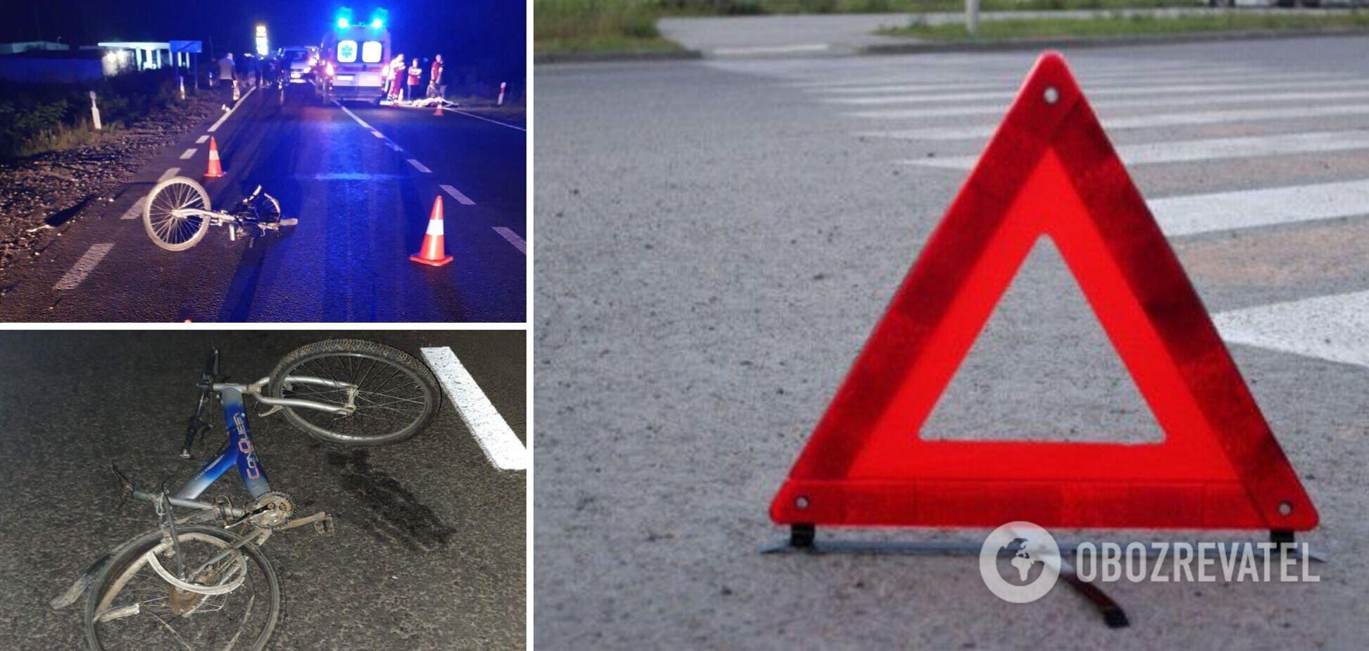 На Закарпатті авто збило 13-річного велосипедиста, хлопчик помер на місці. Фото