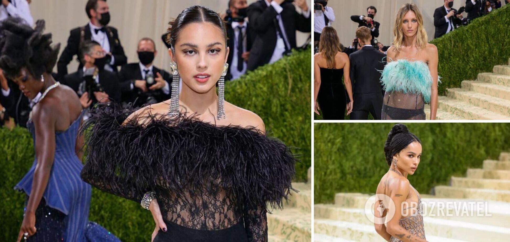 'Голі' сукні голлівудських зірок на Met Gala 2021: хто ризикнув блиснути тілом. Фото
