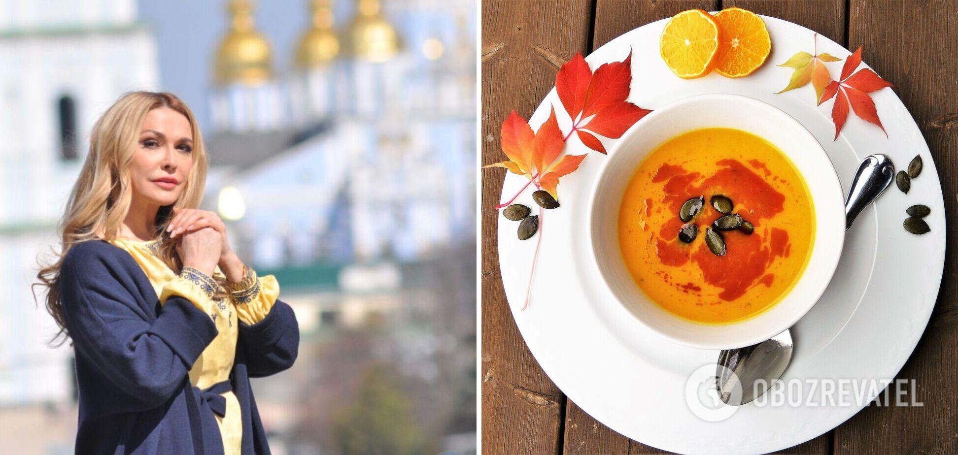 Осінній гарбузовий суп за рецептом Ольги Сумської