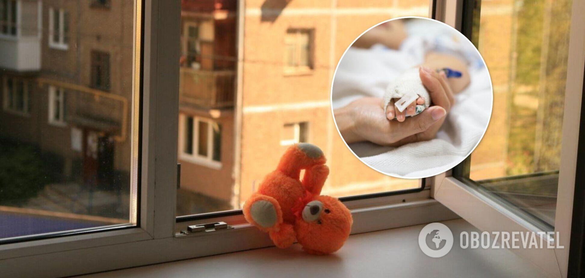 У Харкові однорічна дівчинка випала з вікна багатоповерхівки, лікарі борються за життя дитини