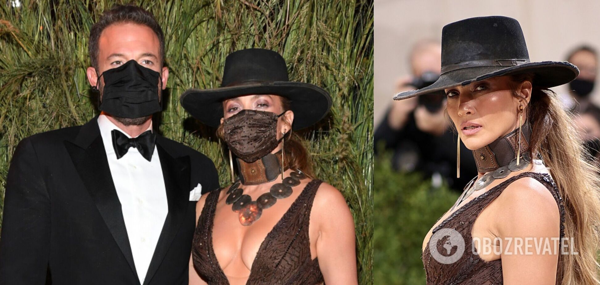 Джей Ло і Бен Аффлек пристрасно поцілувалися крізь маски на Met Gala 2021