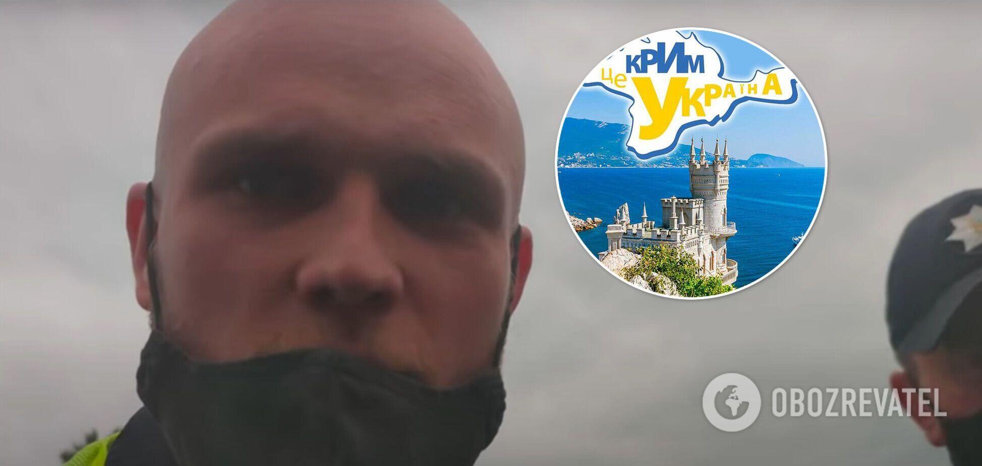 В Киеве патрульный заявил, что ему все равно, чей Крым. Видео