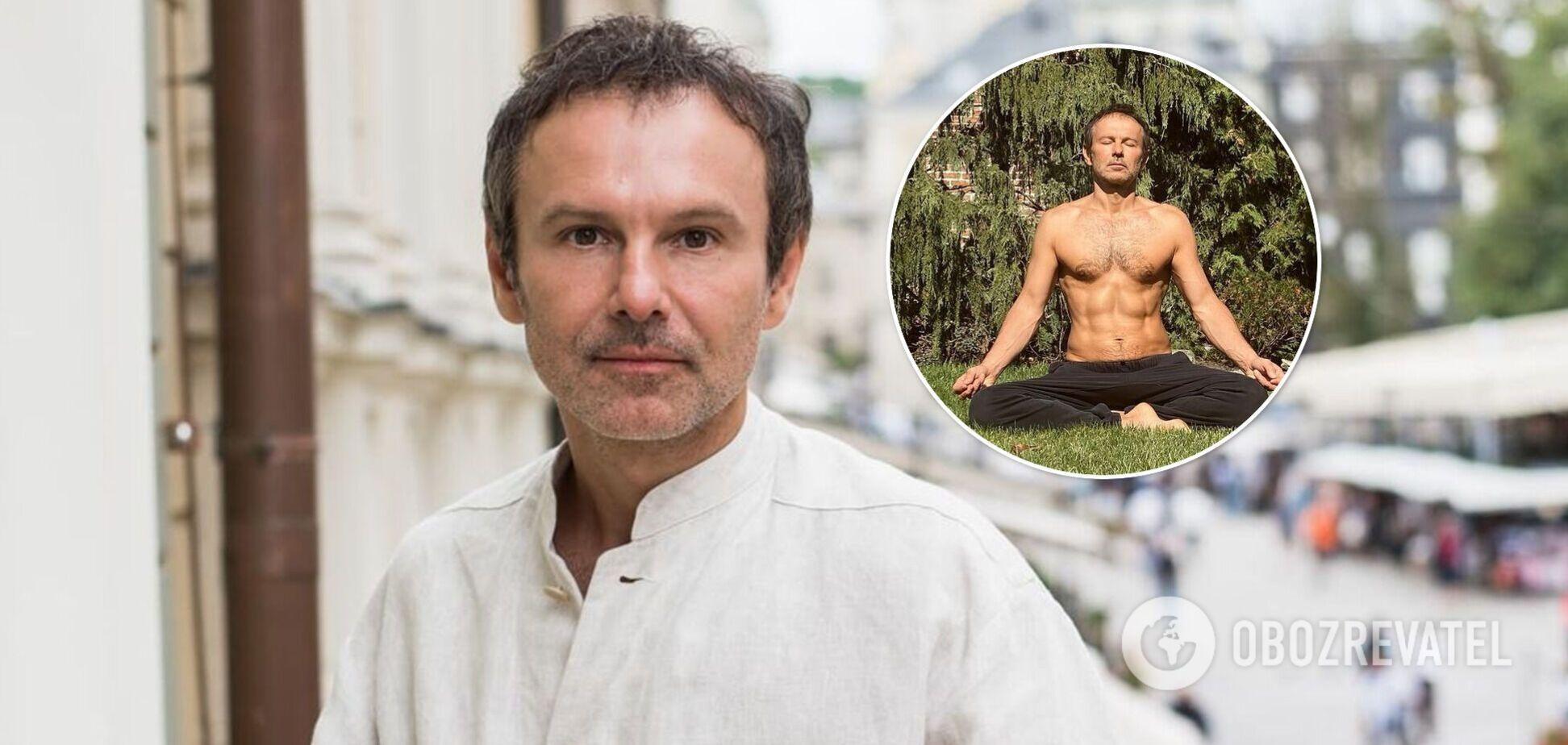 46-летний Святослав Вакарчук засветил голый торс и кубики пресса. Фото