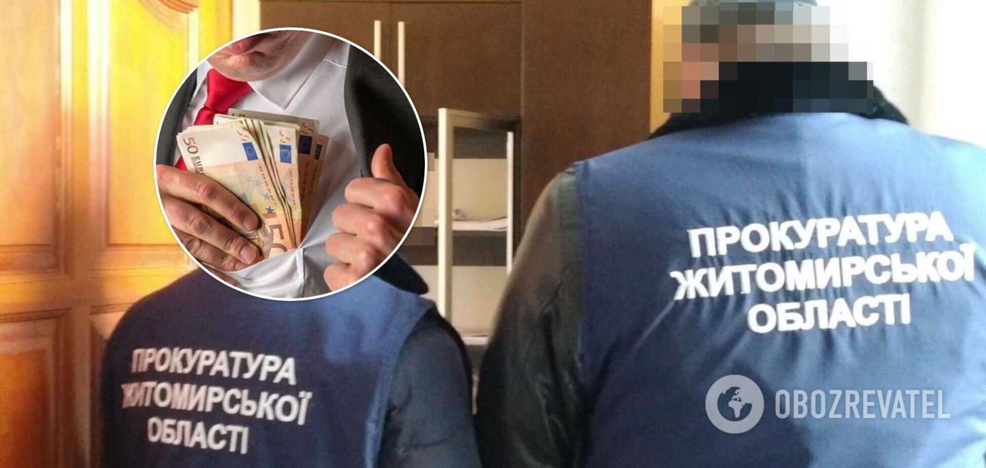 В Житомирской области пресечена деятельность преступной группы с коррупционными связями