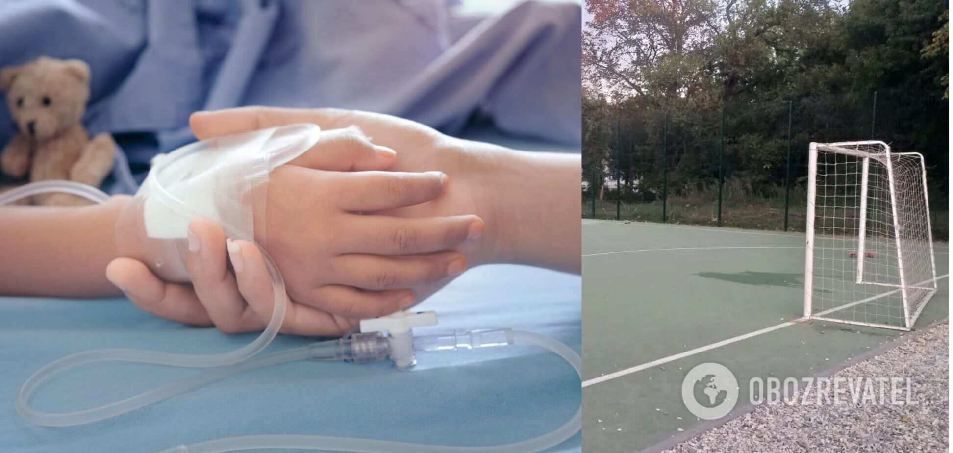 Момент падіння футбольних воріт на школяра в Харкові потрапив на відео: за його життя борються лікарі