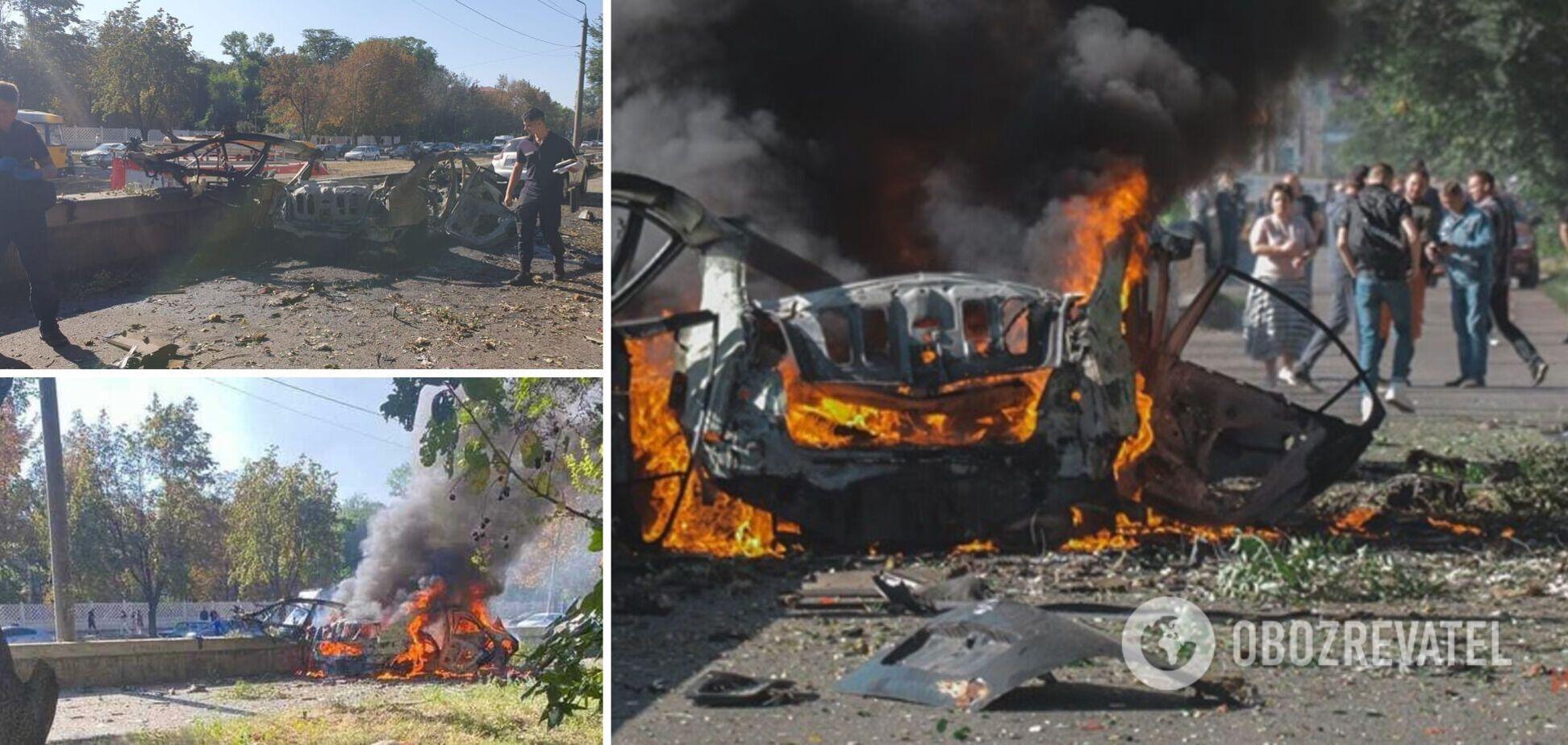 В Днепре взорвалась машина на проспекте Богдана Хмельницкого