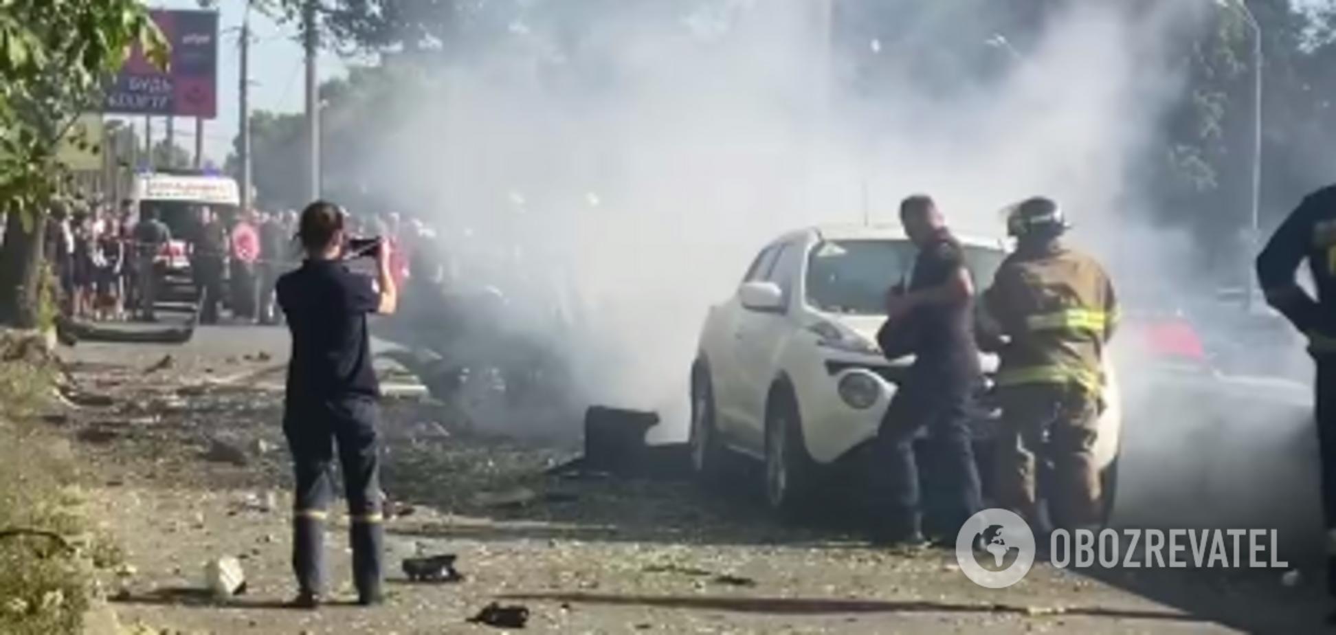 В Днепре взорвался автомобиль: есть погибшие
