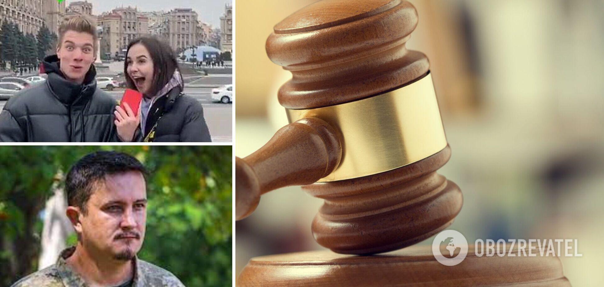 Блогерша, признавшаяся на Майдане в любви к России, подала в суд на офицера ВСУ
