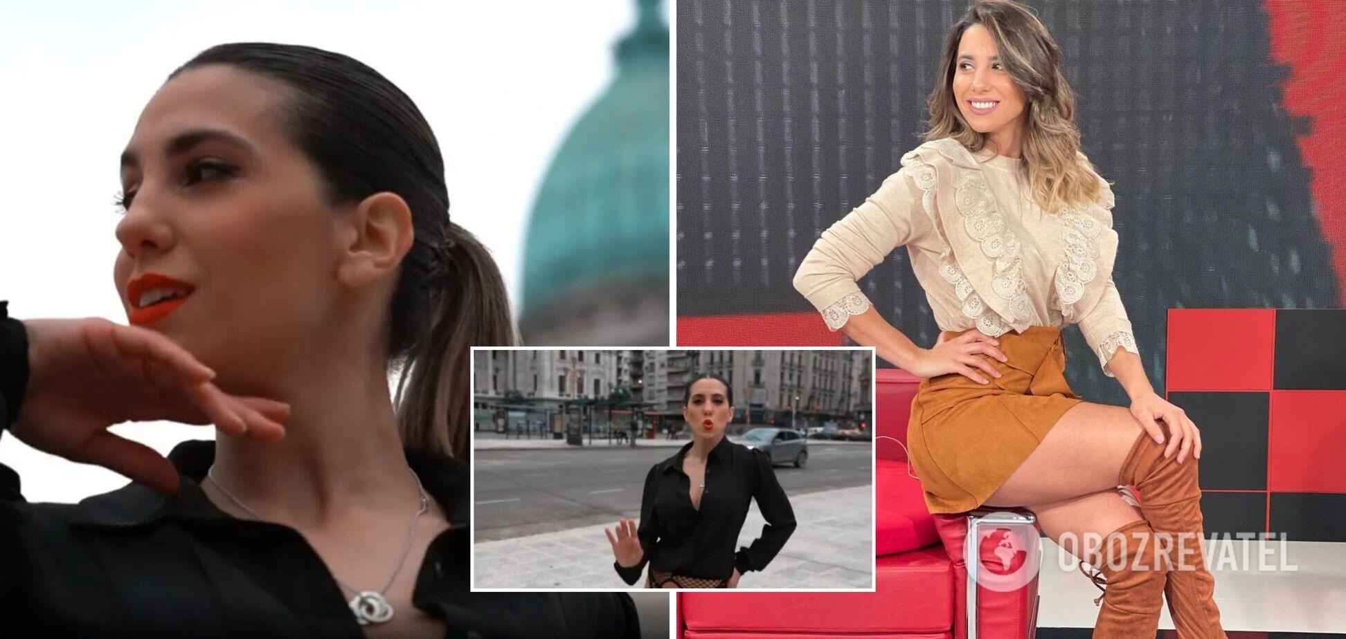 Модель из Аргентины сняла предвыборный ролик в пикантном наряде. Видео 18+