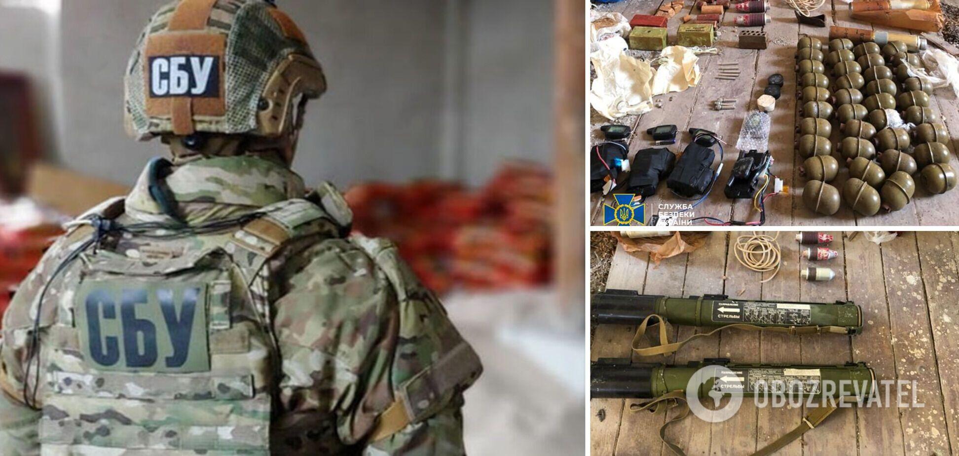 На Закарпатье обнаружили тайник со взрывчаткой и противотанковыми гранатами. Фото