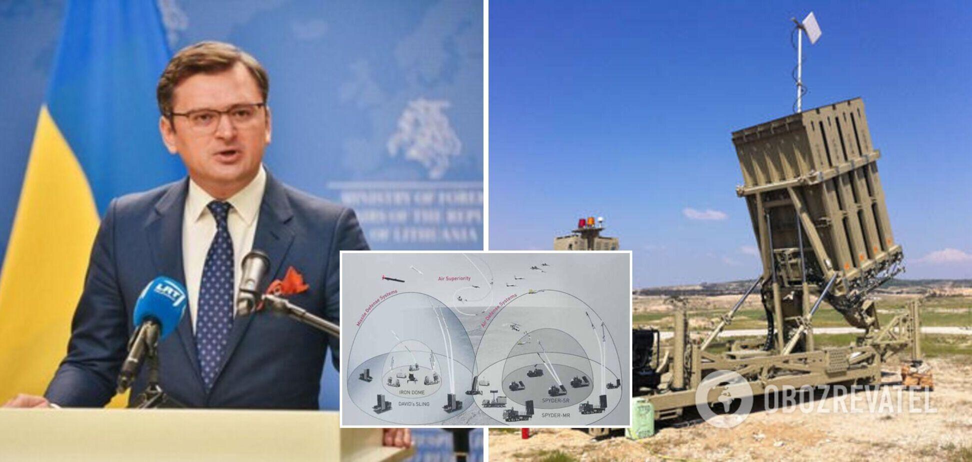 Кулеба о вероятности предоставления Украине 'Железного купола': мы действительно ставили вопрос в США