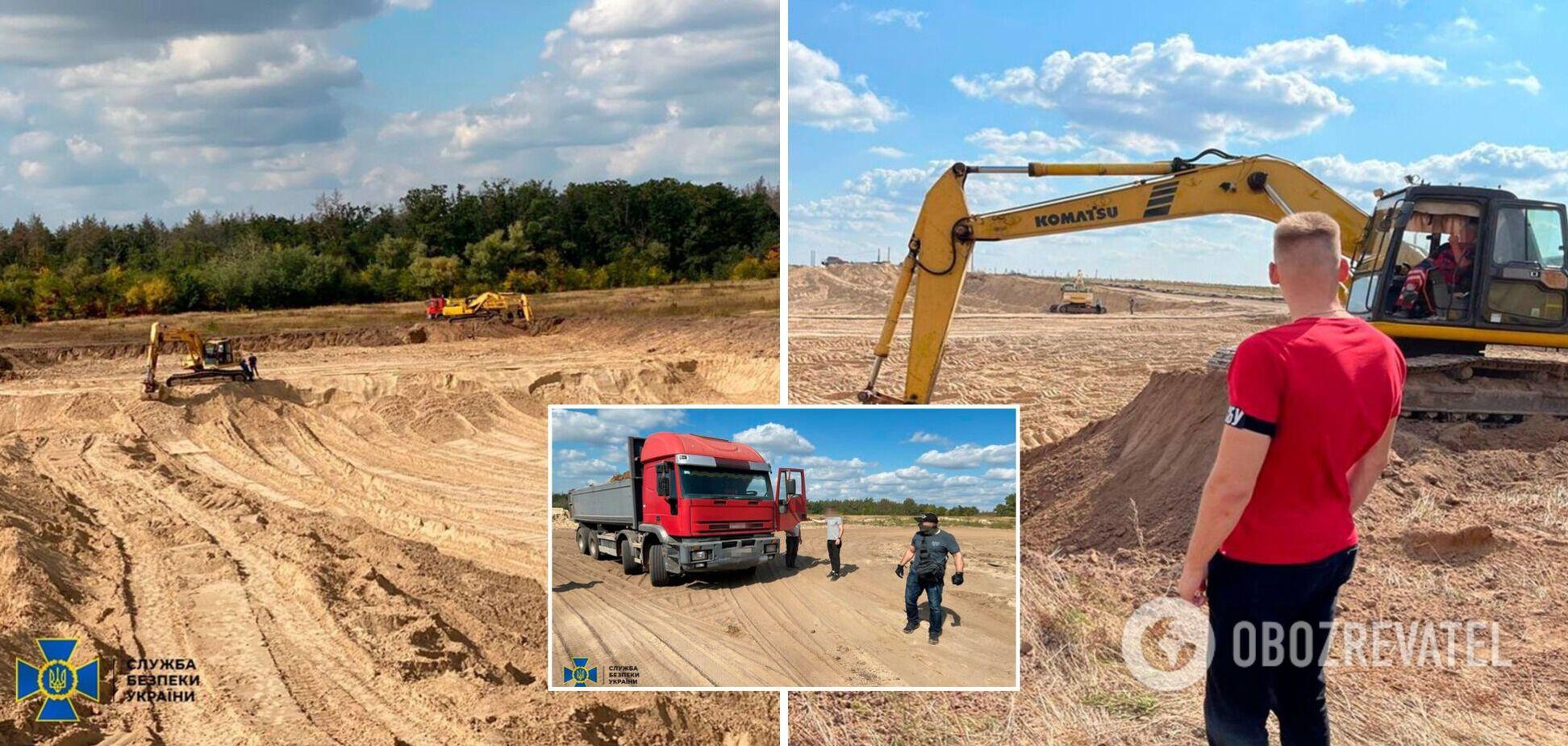 На Київщині викрито нелегальну схему з видобутку піску