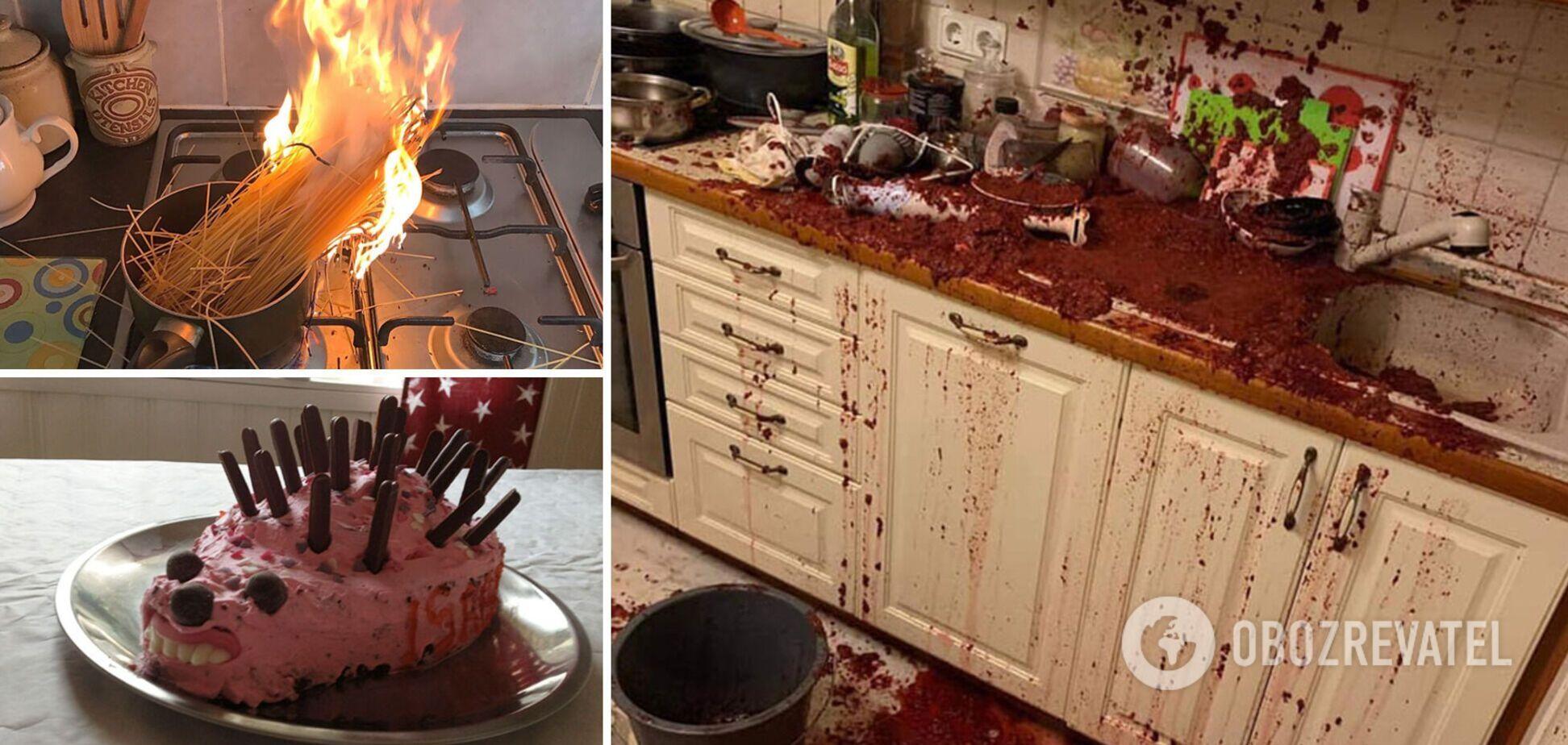 Кухонные поверхности сильно пострадали