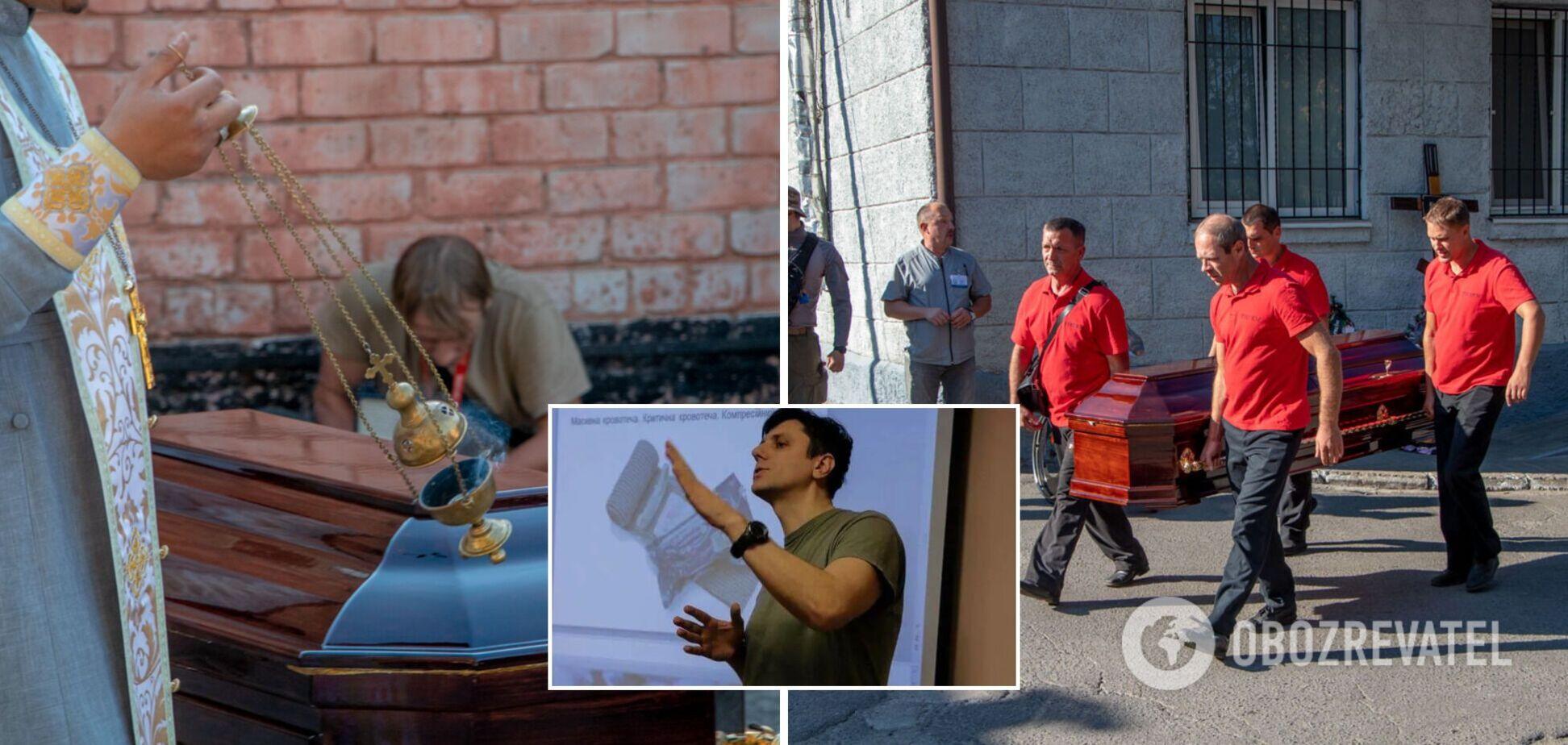 У Дніпрі попрощалися із загиблим під час теракту інструктором 'Українського легіону'. Фото та відео