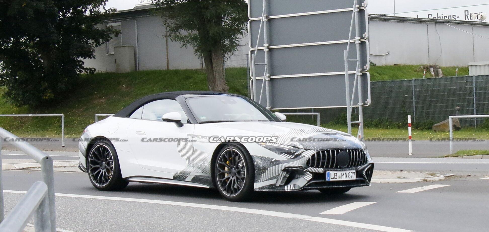 Mercedes-AMG SL помітили на тестах майже без камуфляжу