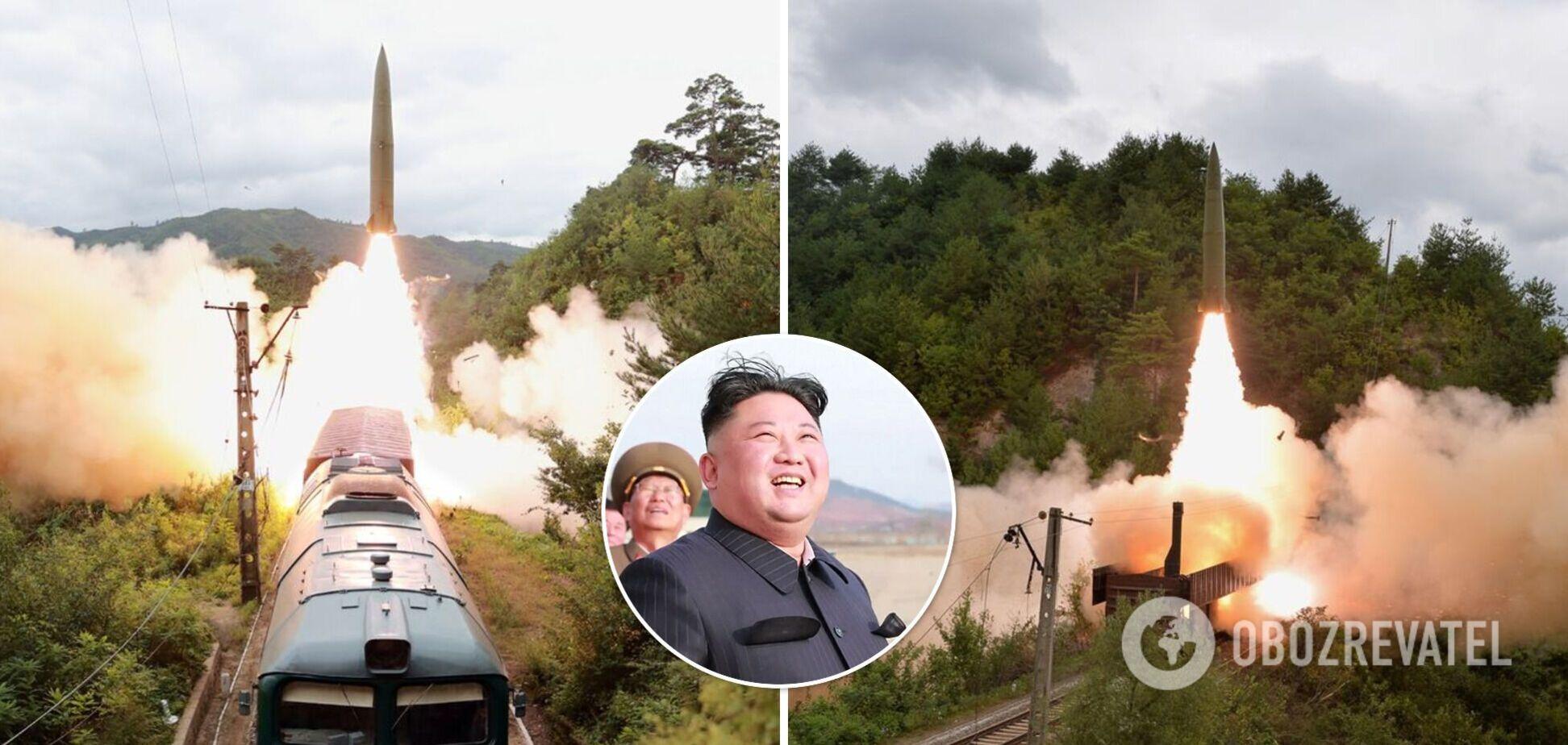 У КНДР запустили балістичні ракети з потягу. Відео