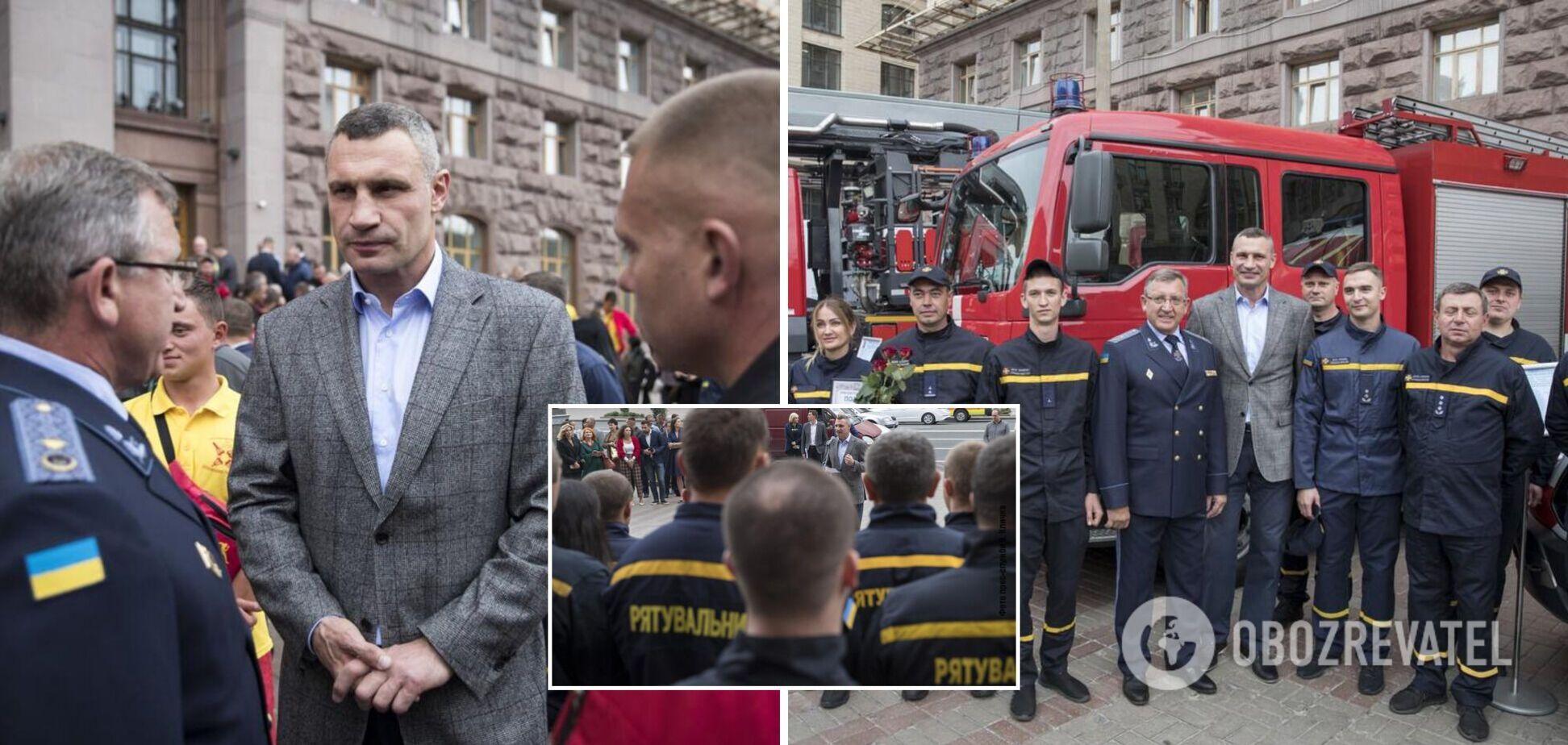 Кличко поздравил столичных спасателей с профессиональным праздником