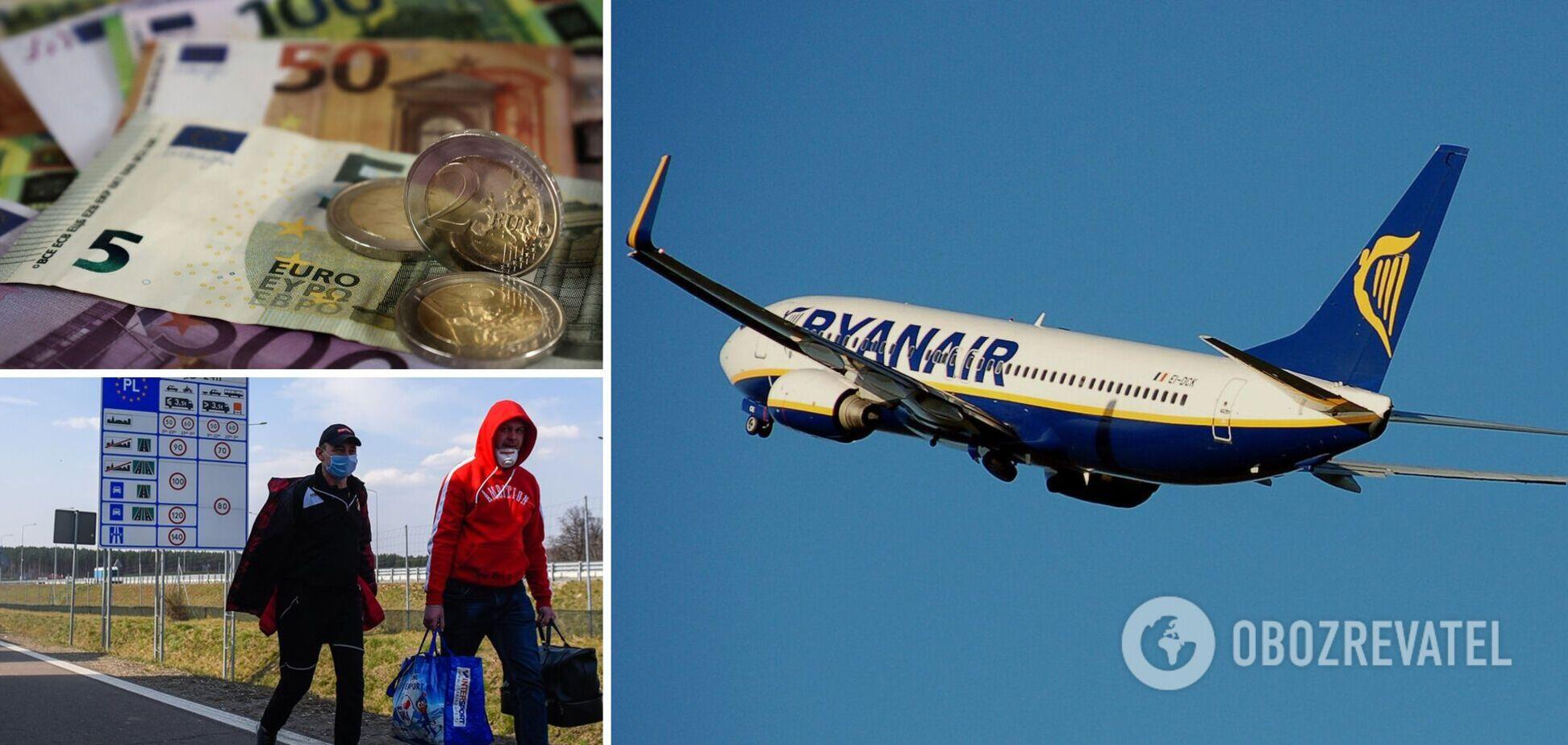 Авиакомпания Ryanair хочет заработать на украинских заробитчанах
