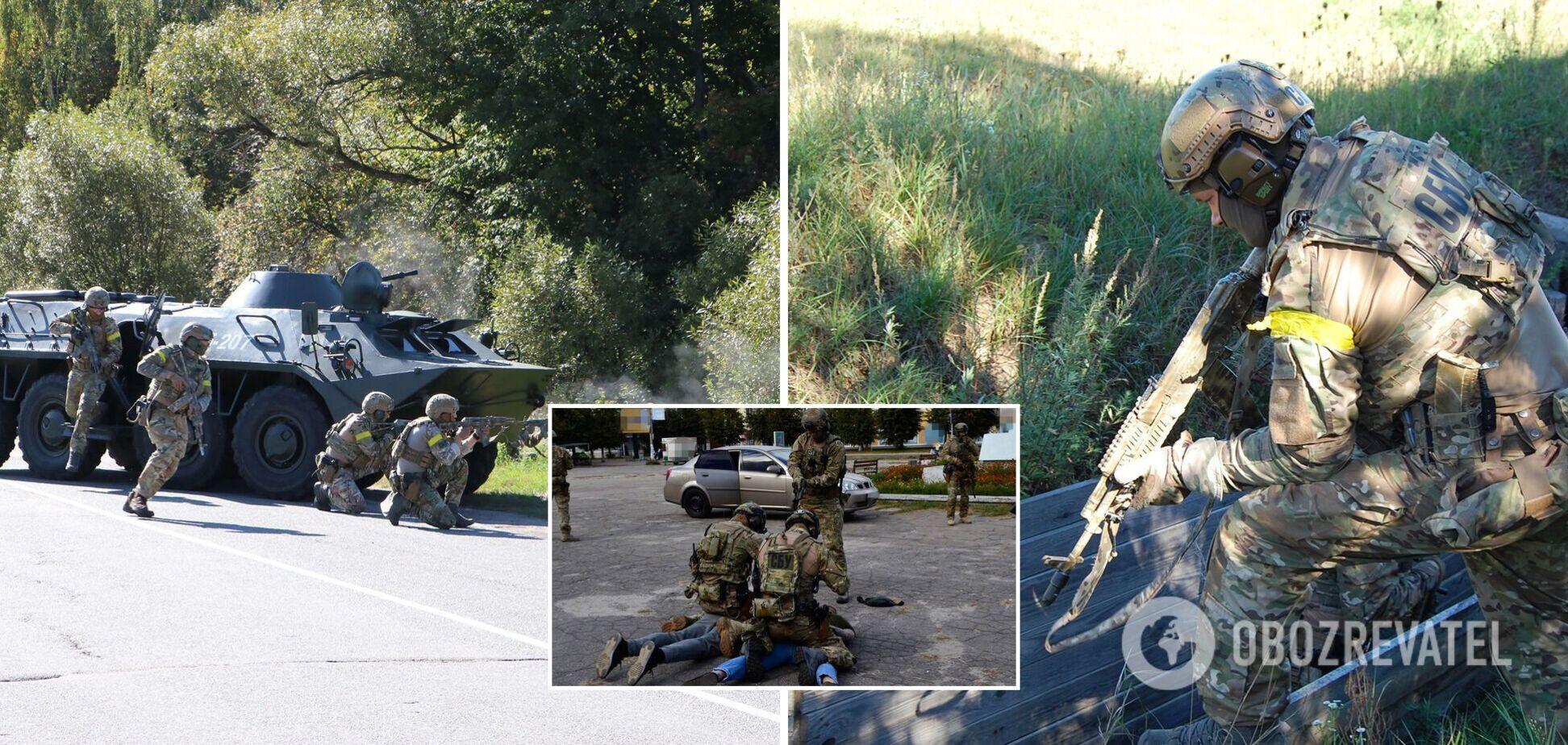 СБУ провела масштабные учения по нейтрализации диверсантов вблизи границы с РФ. Фото и видео