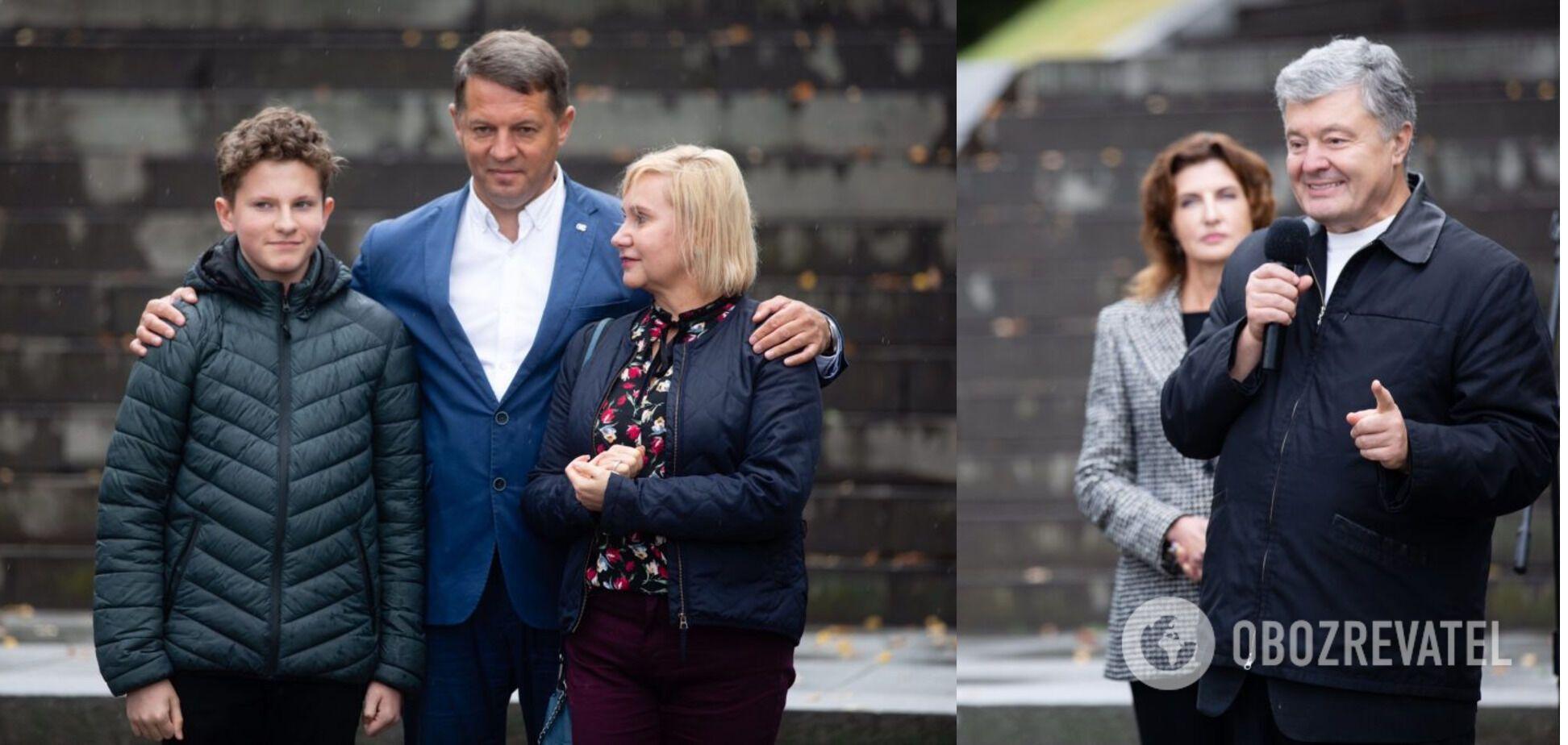 Порошенко в Каневе призвал поддержать на выборах в Раду пленника Кремля Сущенко. Фото