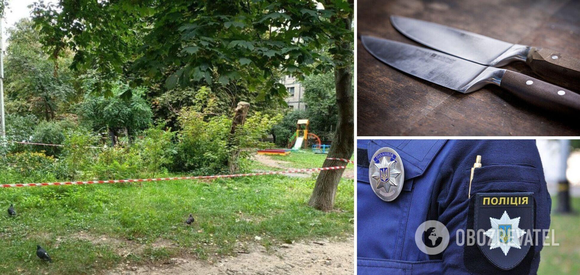 В Киеве пьяный конфликт обернулся убийством: женщине нанесли смертельное ранение на детской площадке. Фото