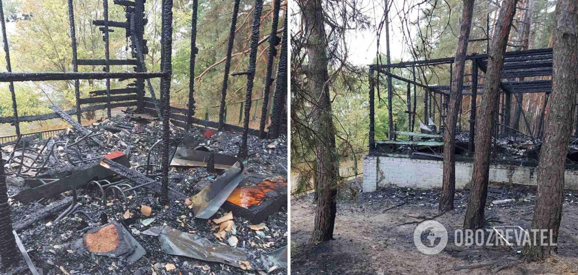 Под Харьковом произошел пожар на базе отдыха, есть пострадавшие. Фото