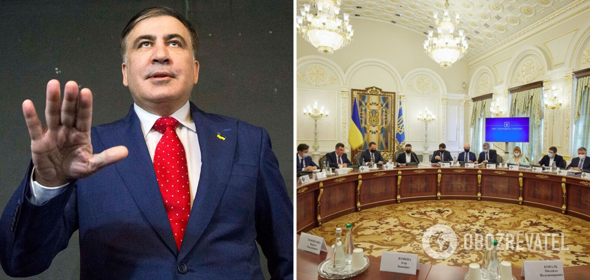 Саакашвили раскритиковал санкции СНБО: ранее из Украины выдворили грузинских 'воров в законе'. Видео
