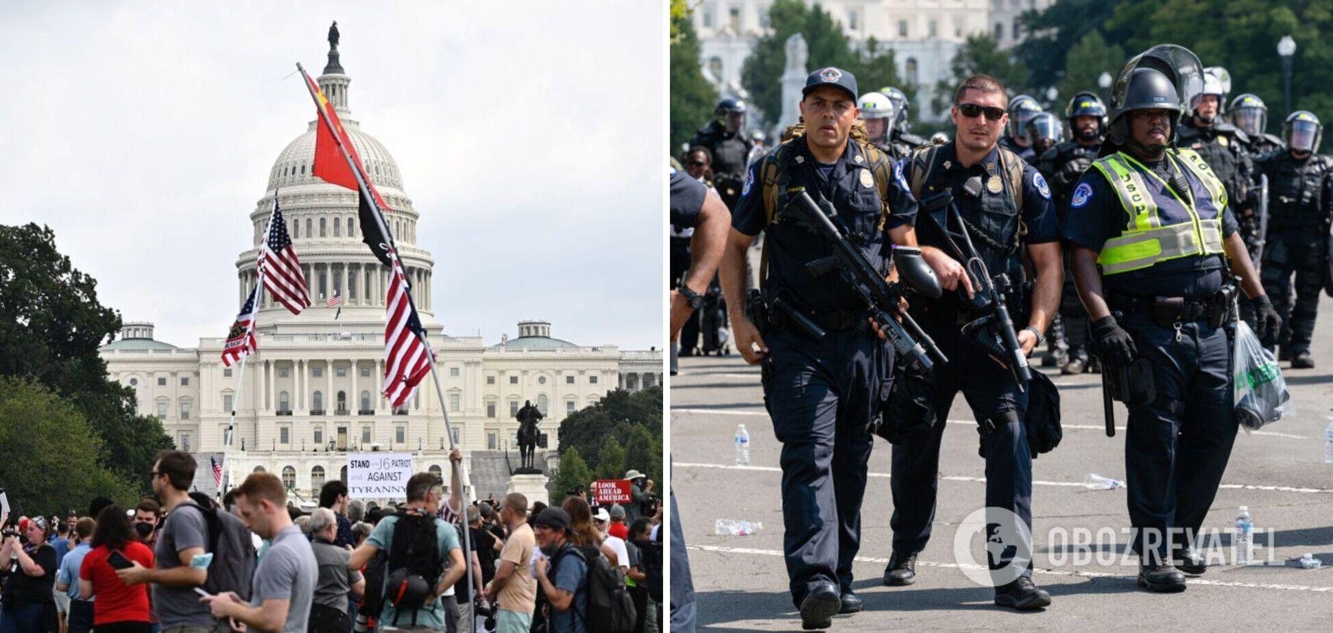 У США через прихильників Трампа стягнули військову техніку до Капітолію. Фото
