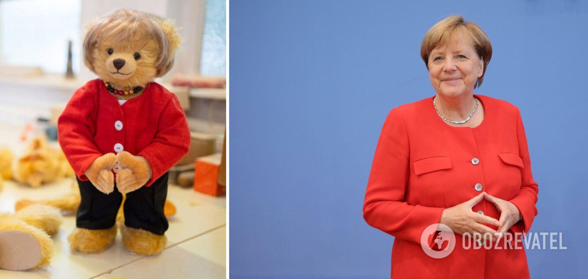 В Германии выпустили партию похожих на Меркель плюшевых медведей. Фото