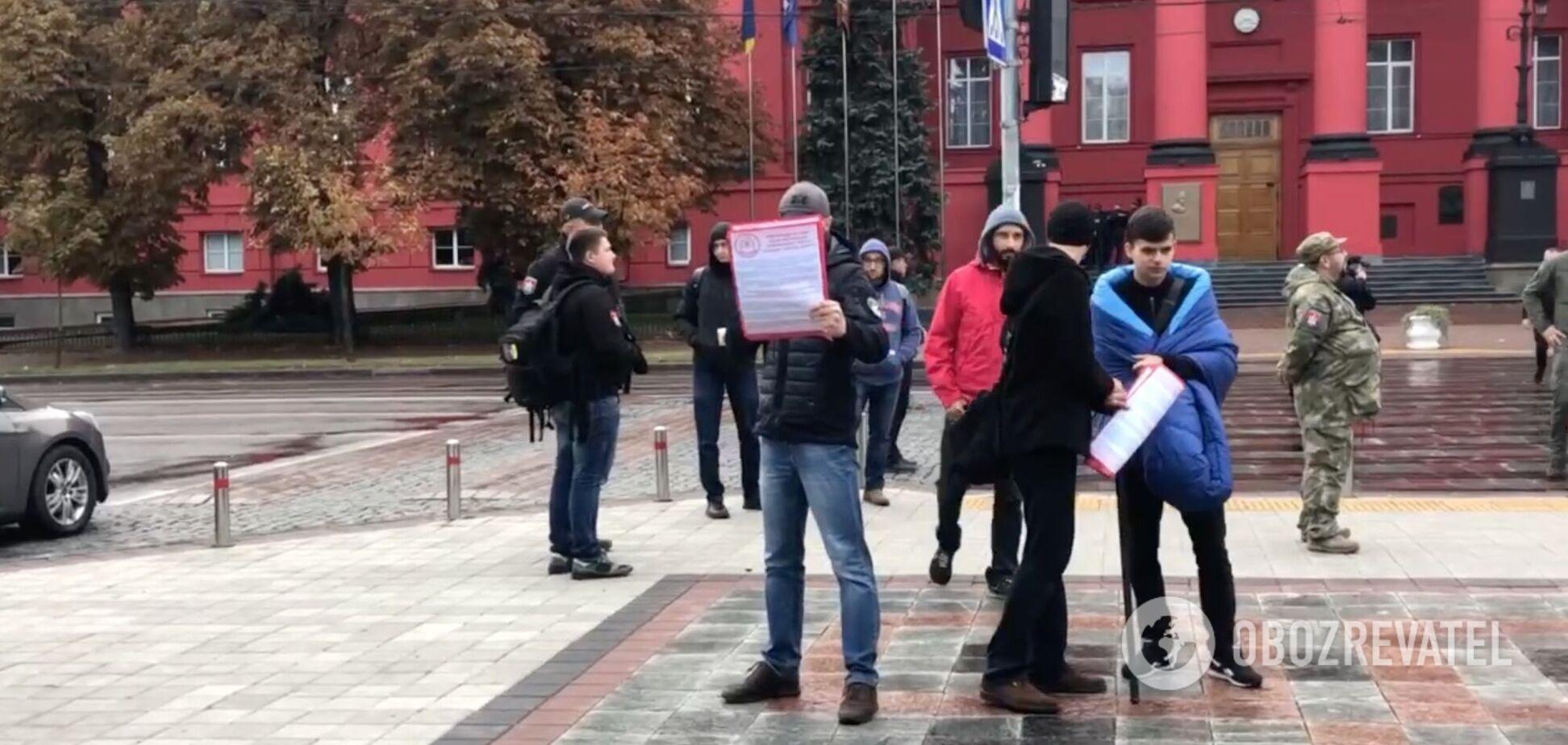 В Киеве протестуют против проведения ЛГБТ-марша