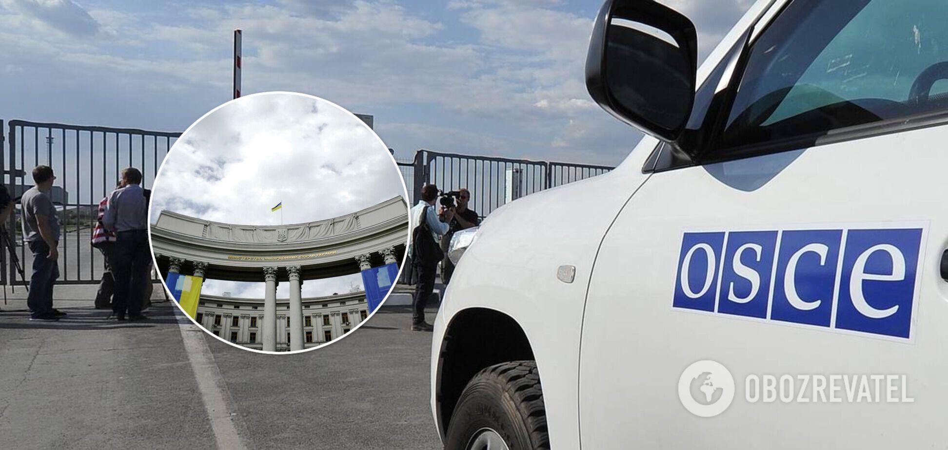 Росія відмовилася продовжувати мандат місії ОБСЄ на кордоні з Україною: в МЗС відповіли