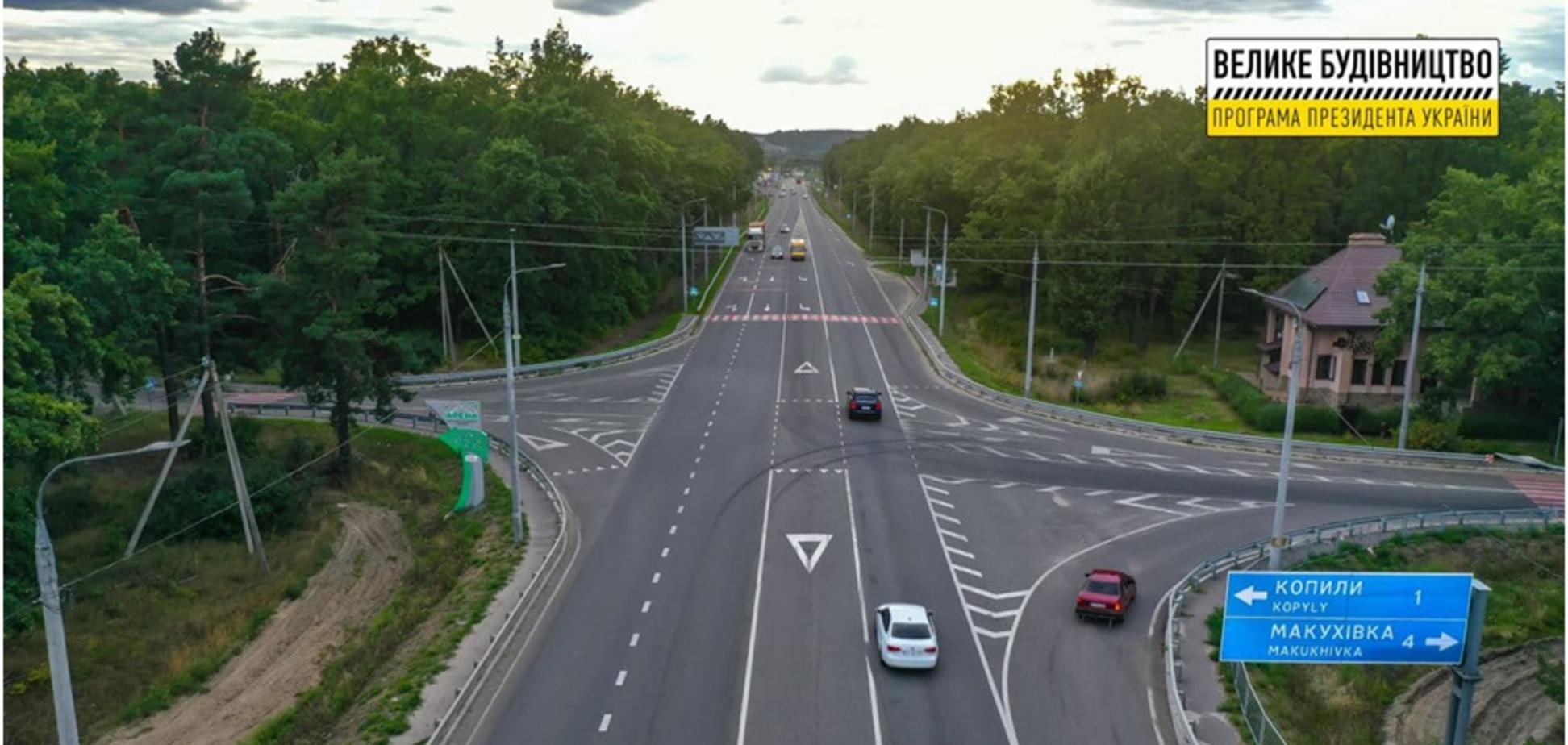 Как выглядит новый участок трассы М-03 на Полтавщине после 'Большой стройки'. Видео