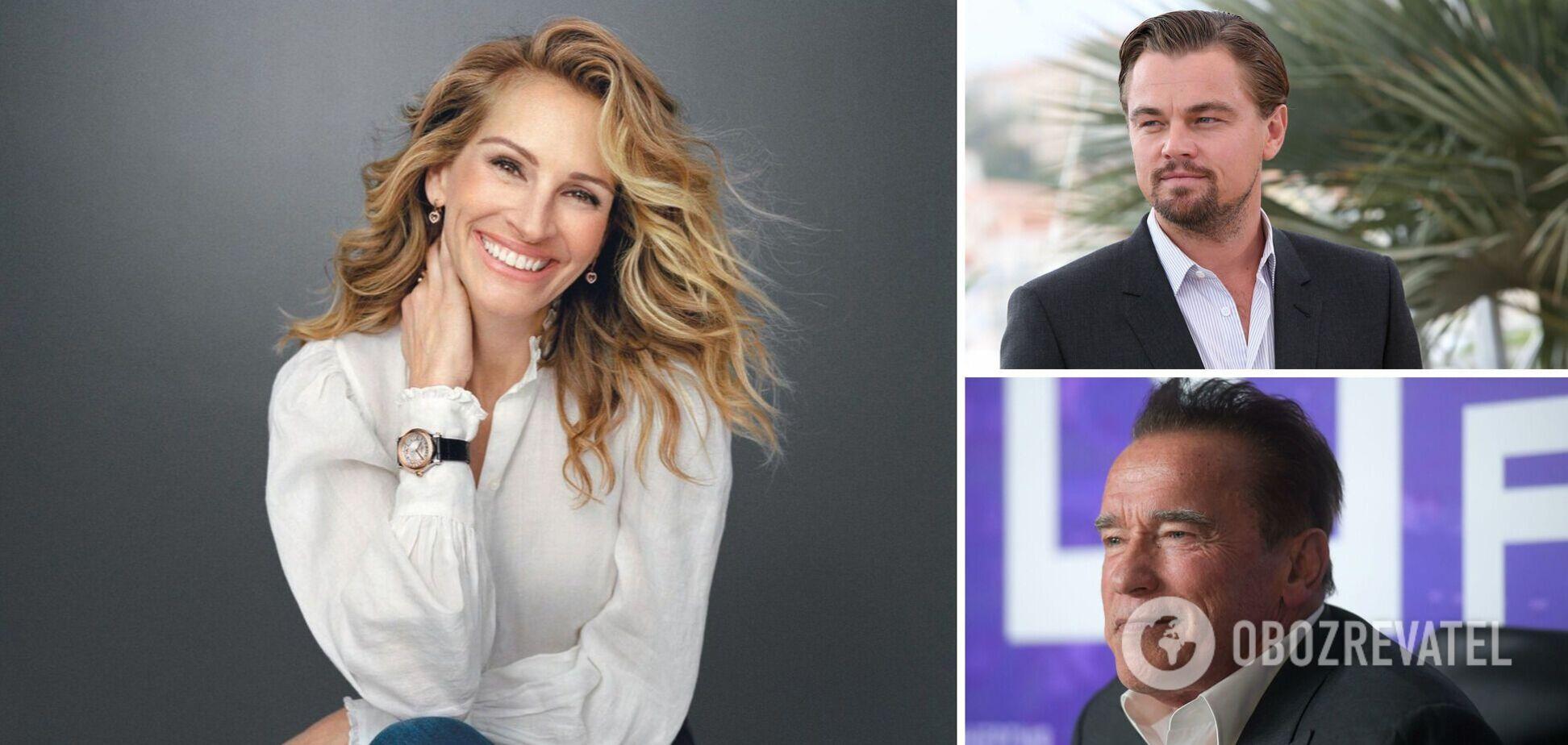 Робертс, Ди Каприо и Шварценеггер: как выглядели голливудские звезды в начале карьеры