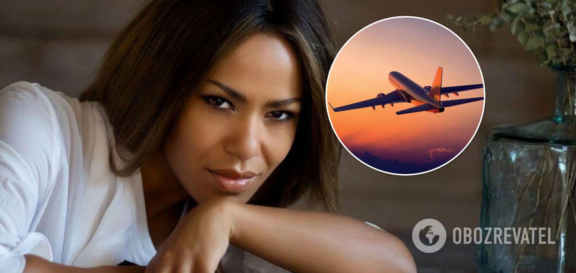 Чуть не задохнулась: Гайтана пожаловалась на плохие условия в украинском самолете