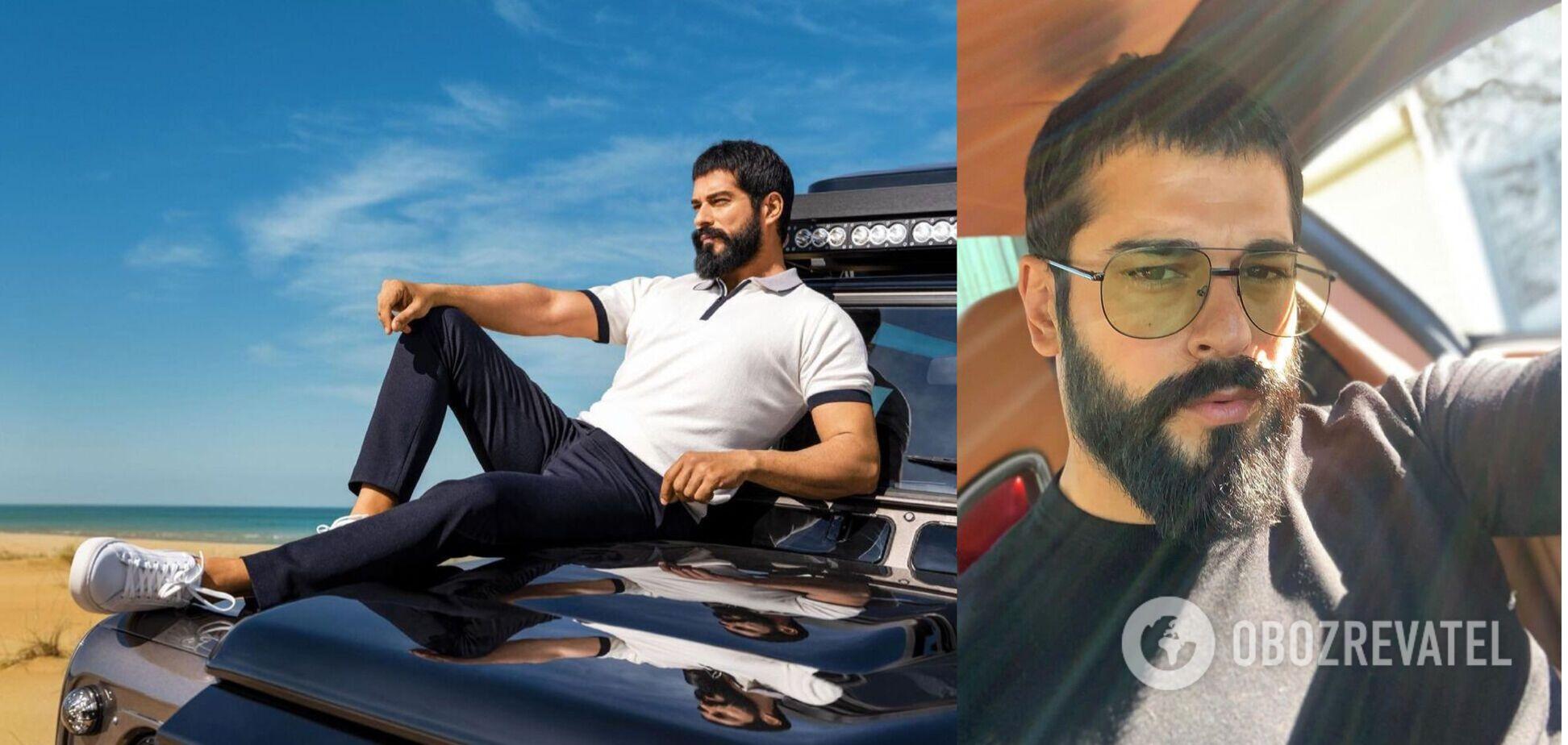 Як виглядає найкрасивіший турецький актор Бурак Озчівіт в звичайному житті. Фото
